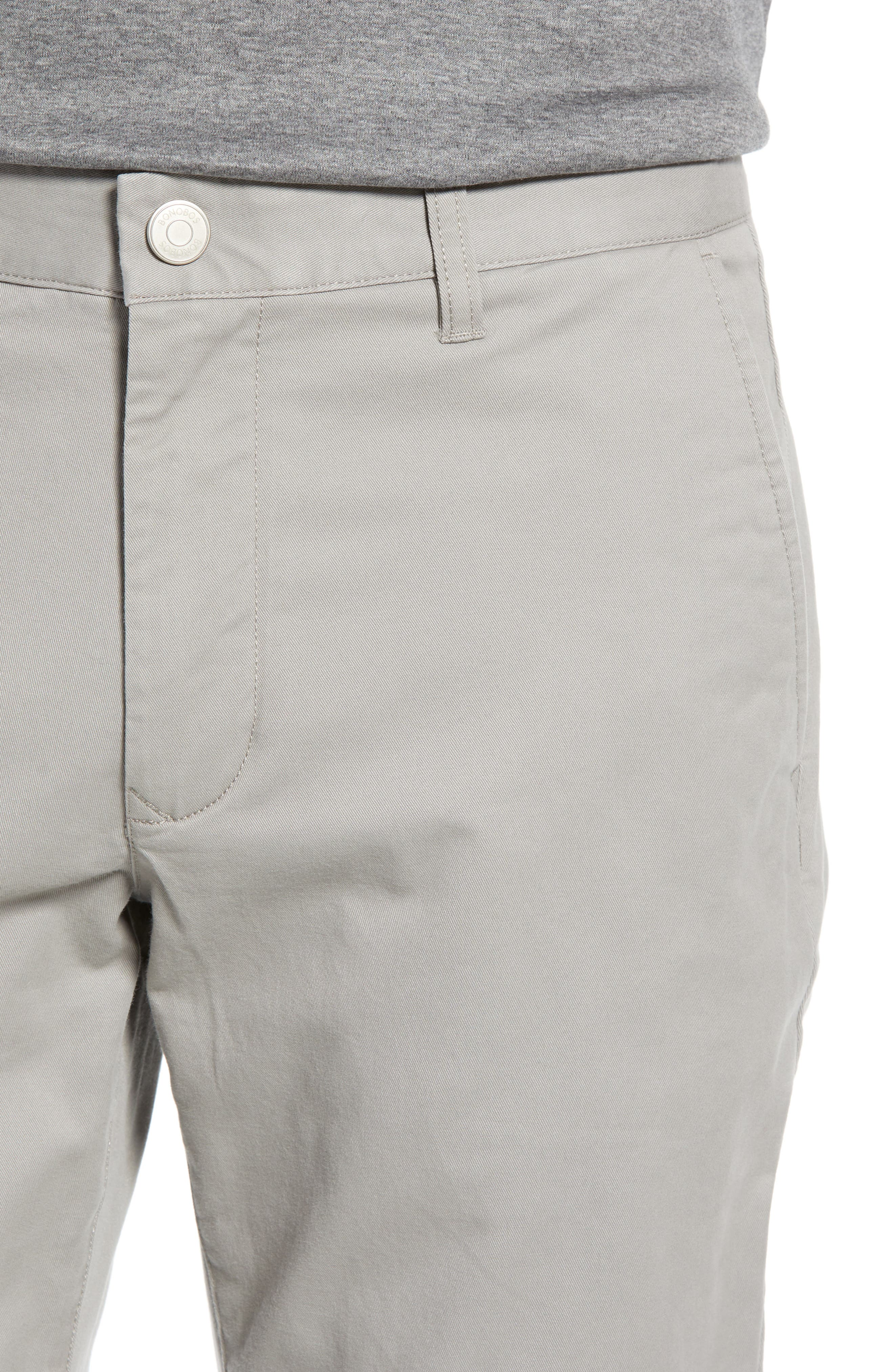 BONOBOS, Athletic Fit Stretch Washed Chinos, Alternate thumbnail 5, color, GREY DOGS