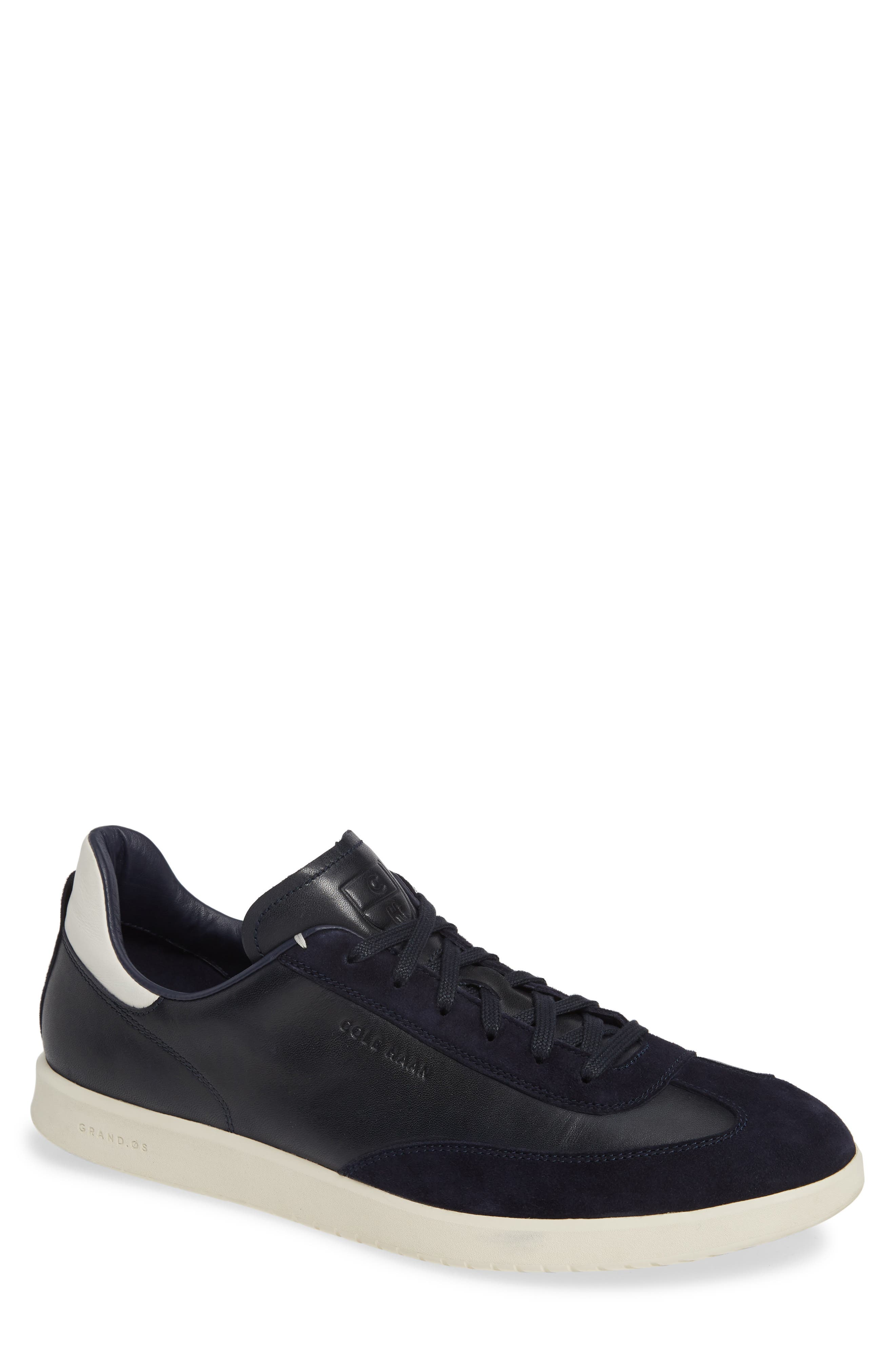 COLE HAAN, GrandPro Turf Sneaker, Main thumbnail 1, color, NAVY INK LEATHER