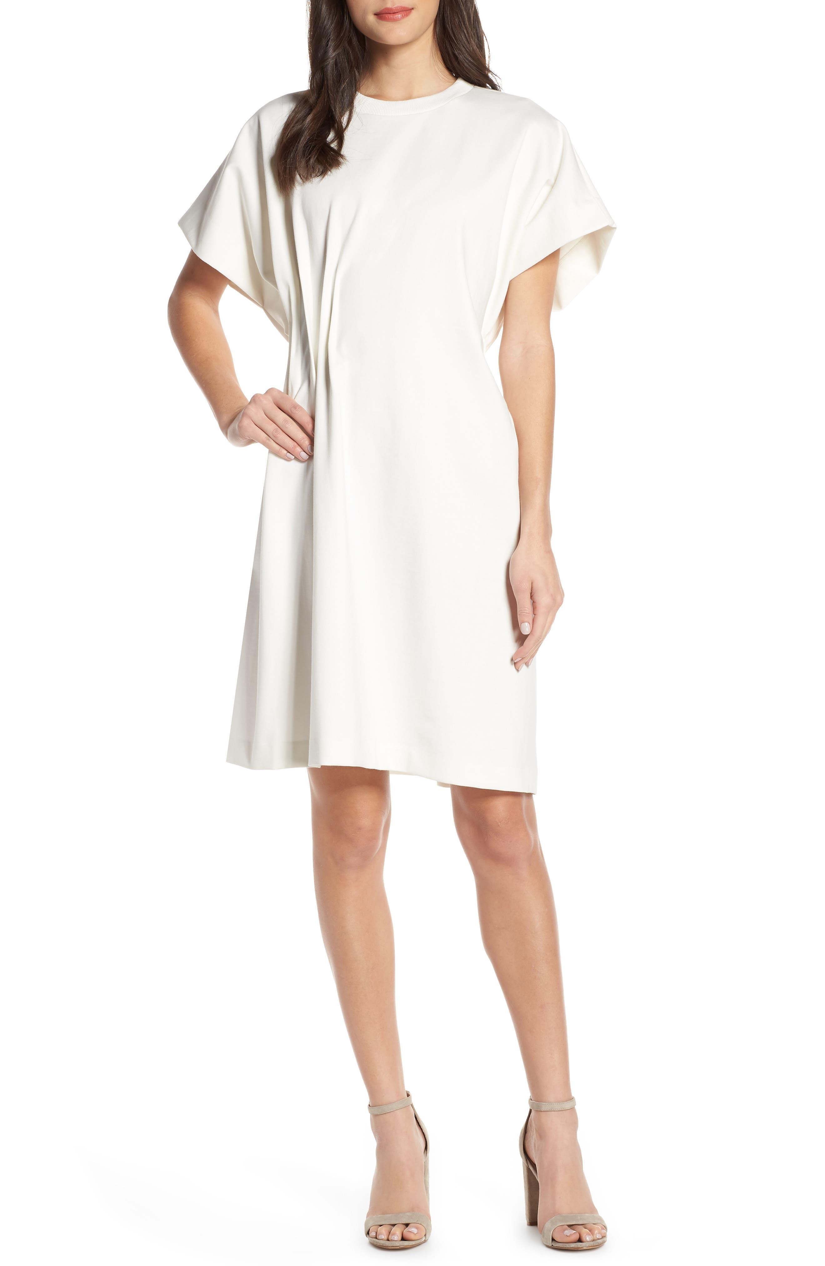 CAARA Looma T-Shirt Dress, Main, color, WHITE