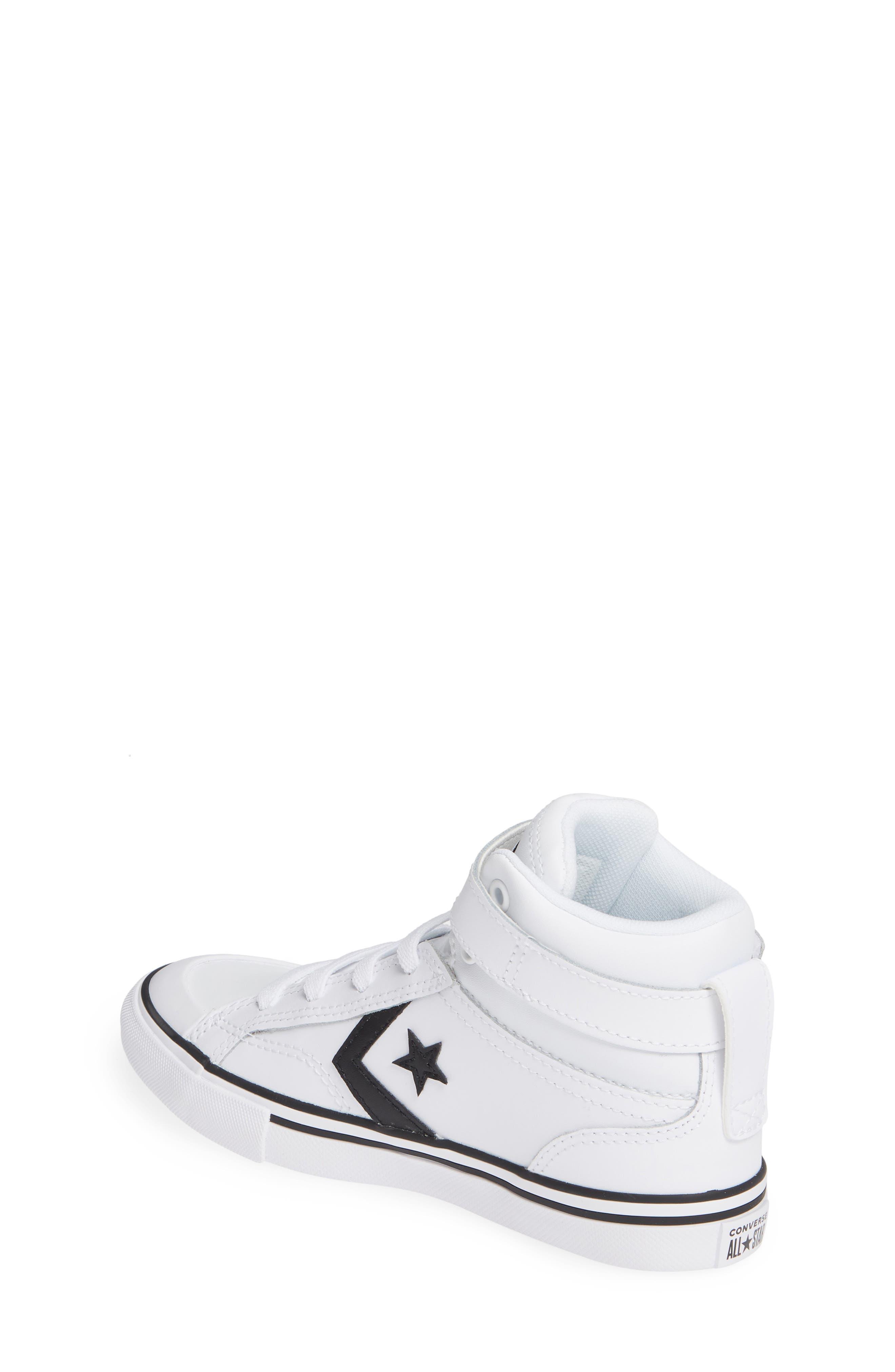 CONVERSE, Pro Blaze High Top Sneaker, Alternate thumbnail 2, color, WHITE/ BLACK/ WHITE