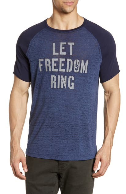 John Varvatos T-shirts LET FREEDOM RING GRAPHIC T-SHIRT