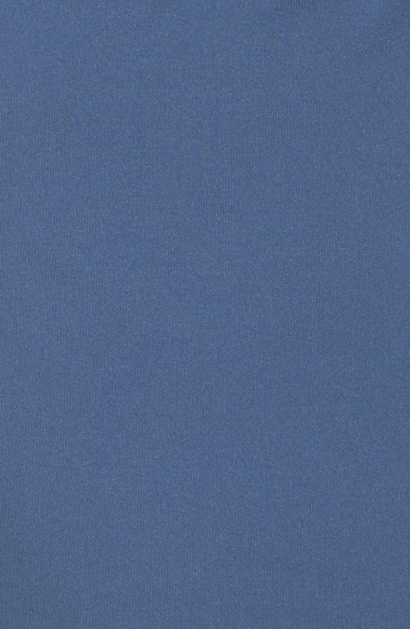 NIKE, Crossback Tankini Top, Alternate thumbnail 6, color, MONSOON BLUE