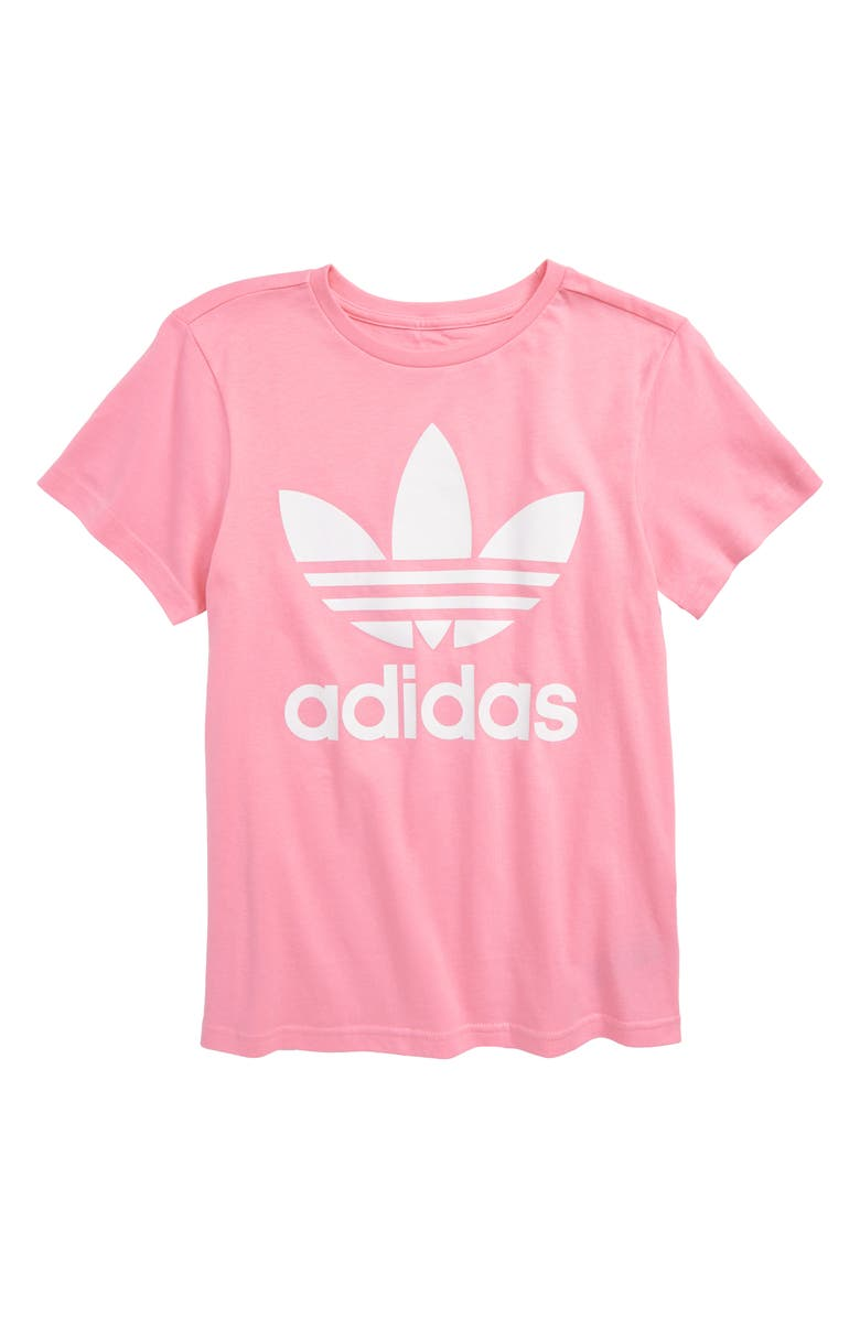 65f294eb440d77 adidas Originals Trefoil Logo Tee (Big Girls)
