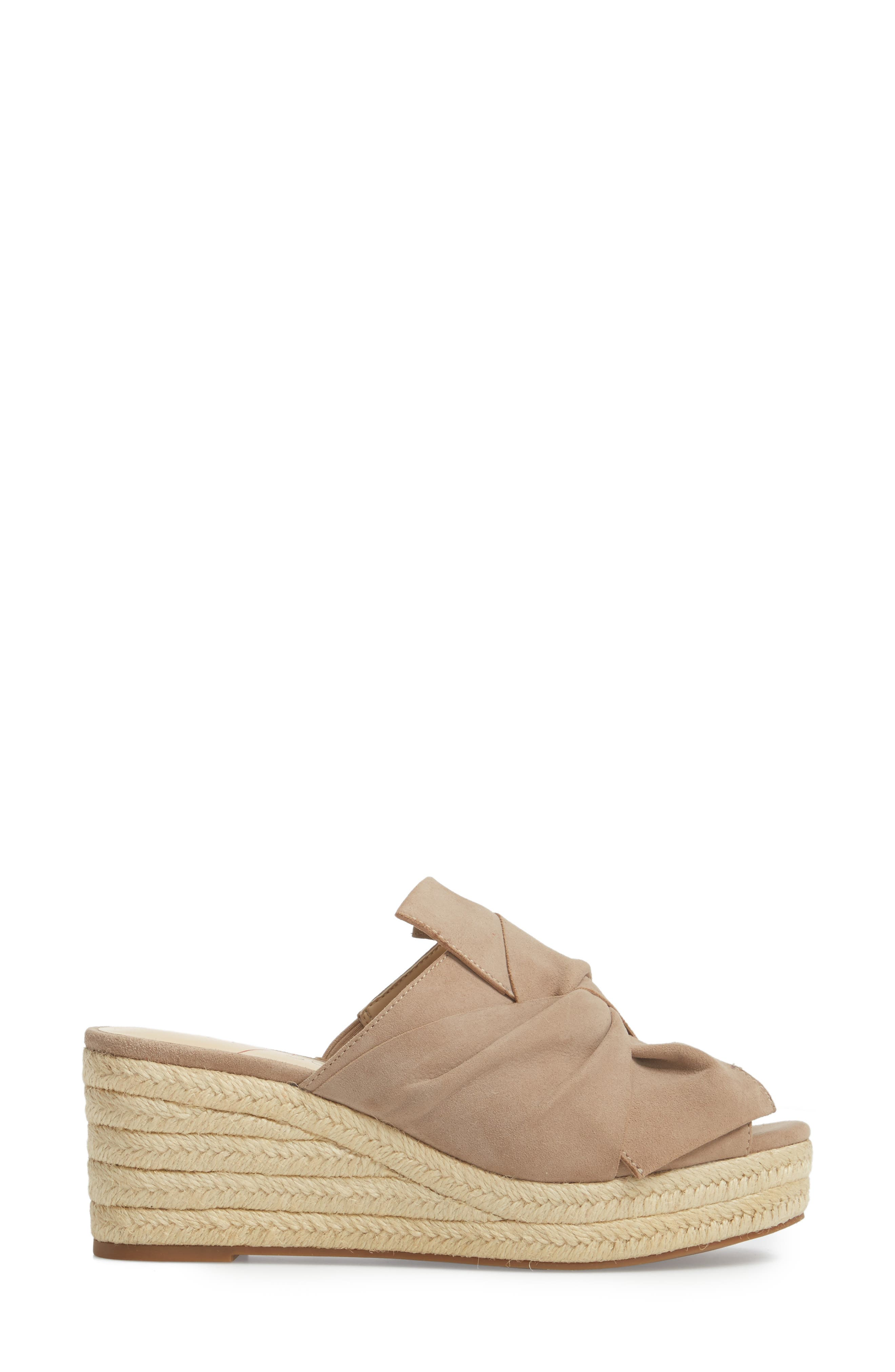 SOLE SOCIETY, Carima Espadrille Wedge, Alternate thumbnail 3, color, TAUPE FABRIC