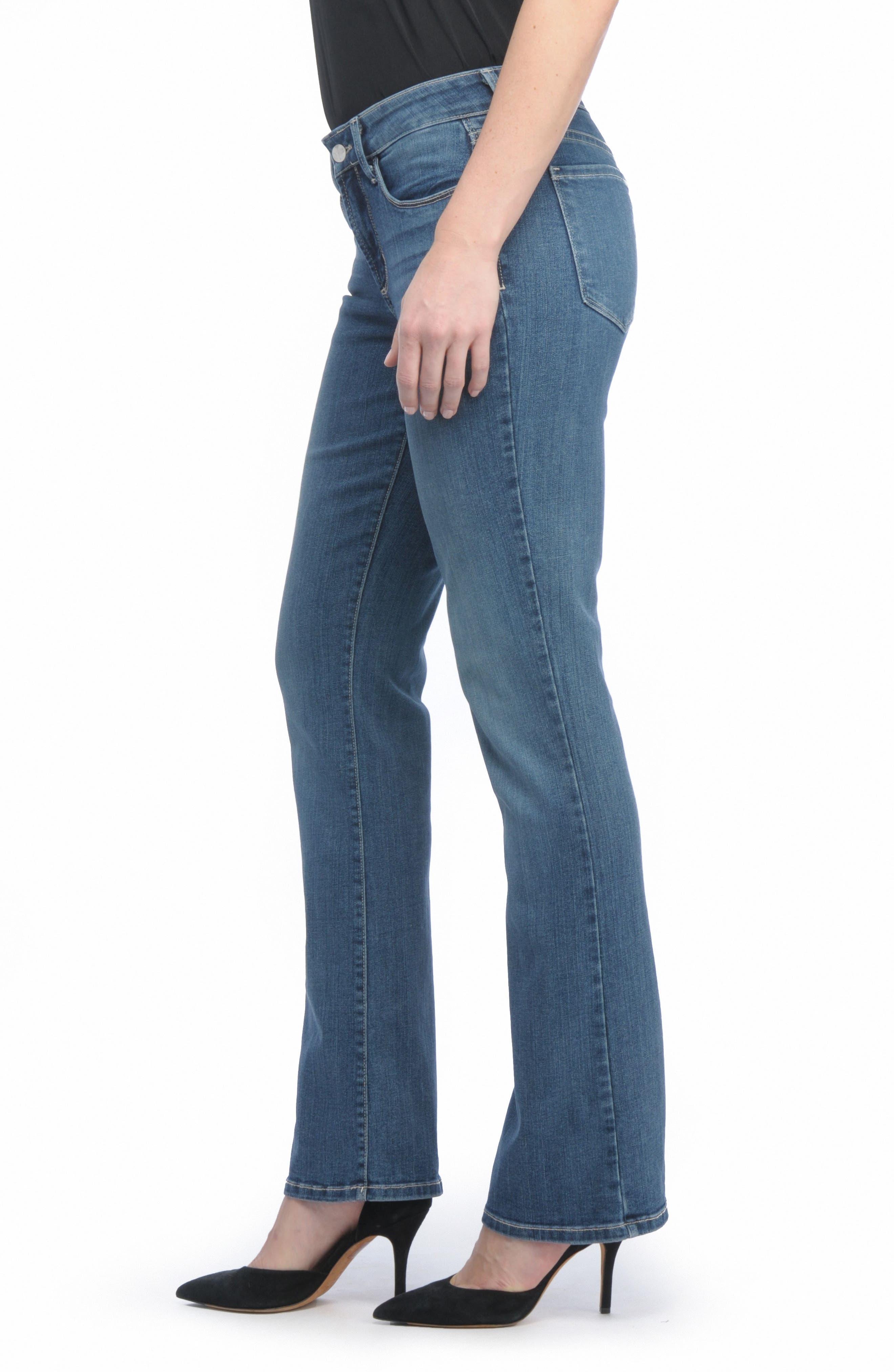 NYDJ, Barbara Stretch Bootcut Jeans, Alternate thumbnail 4, color, HEYBURN