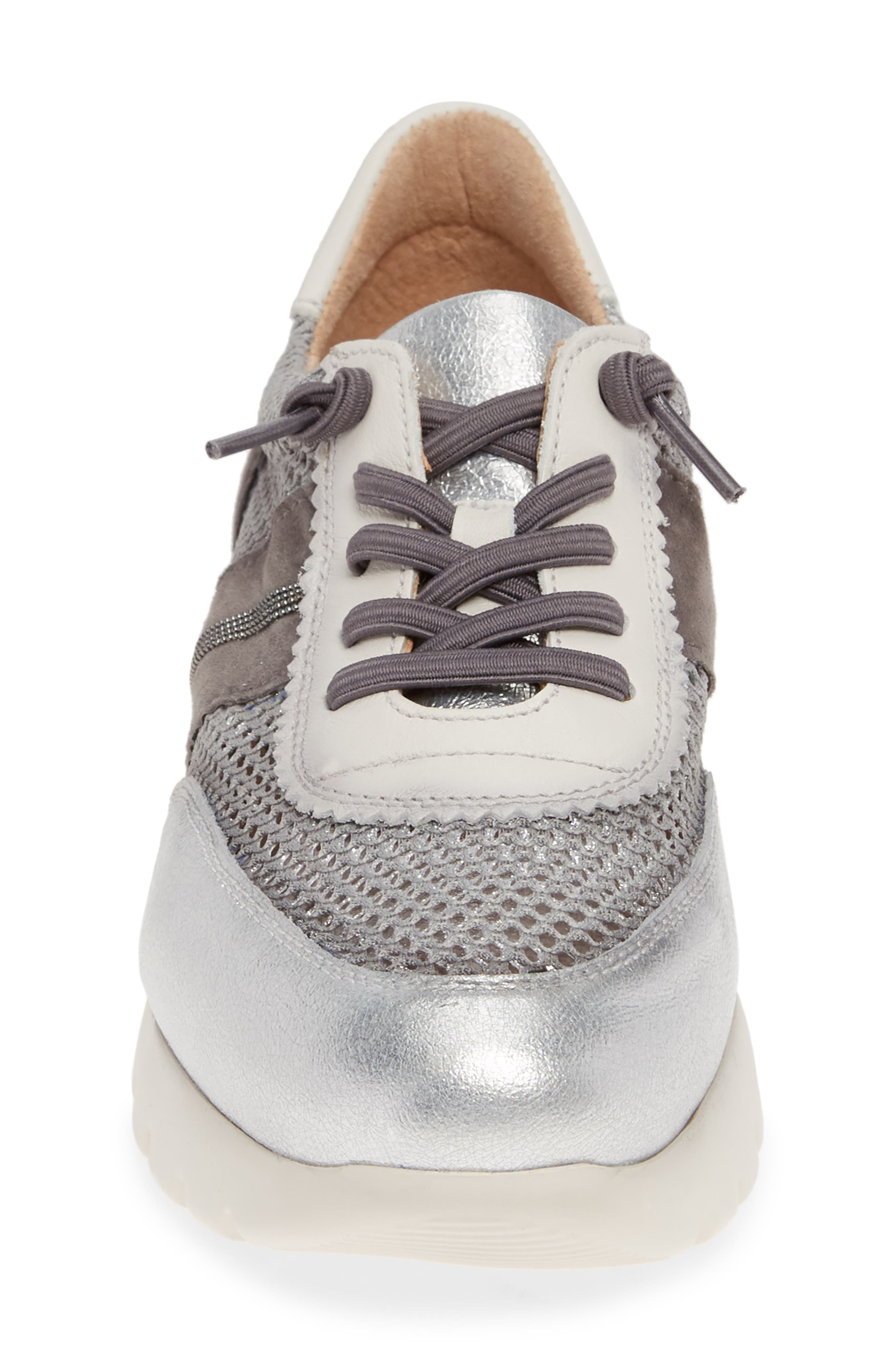 HISPANITAS, Ruth Sneaker, Alternate thumbnail 4, color, SILVER/ GREY SUEDE