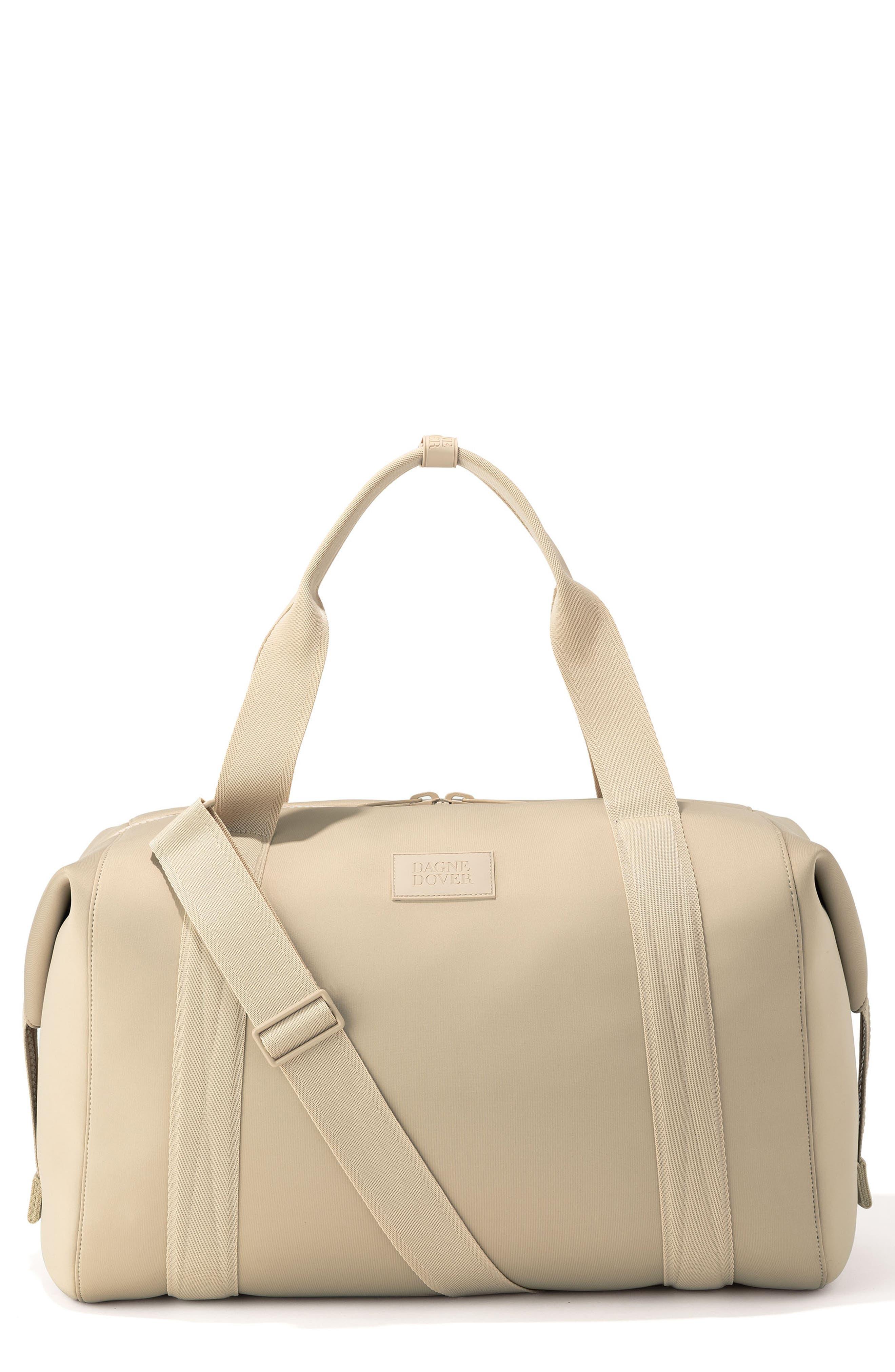 DAGNE DOVER, XL Landon Carryall Duffle Bag, Main thumbnail 1, color, ALMOND LATTE