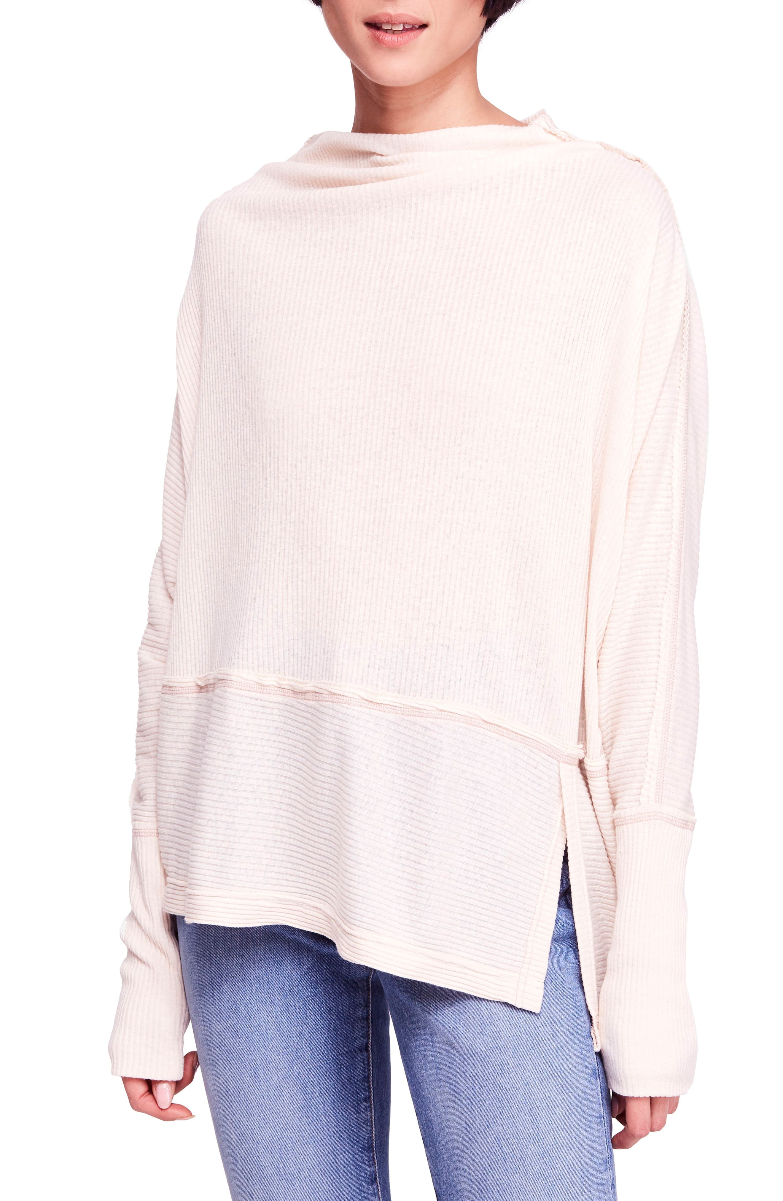 FREE PEOPLE, Londontown Thermal Top, Main thumbnail 1, color, BEIGE