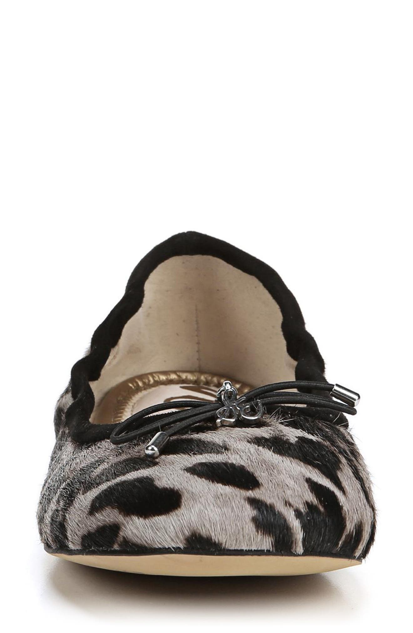 SAM EDELMAN, Felicia Flat, Alternate thumbnail 4, color, CLOUDED LEOPARD BRAHMA HAIR