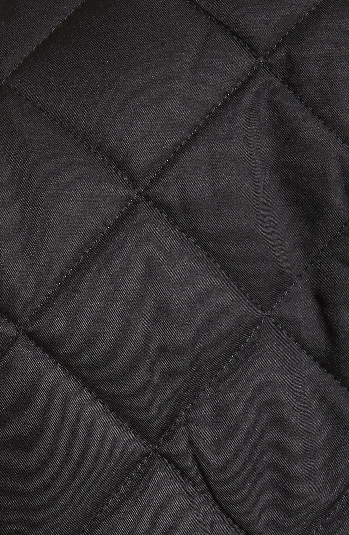BURBERRY, Frankby Quilted Jacket, Alternate thumbnail 6, color, 001