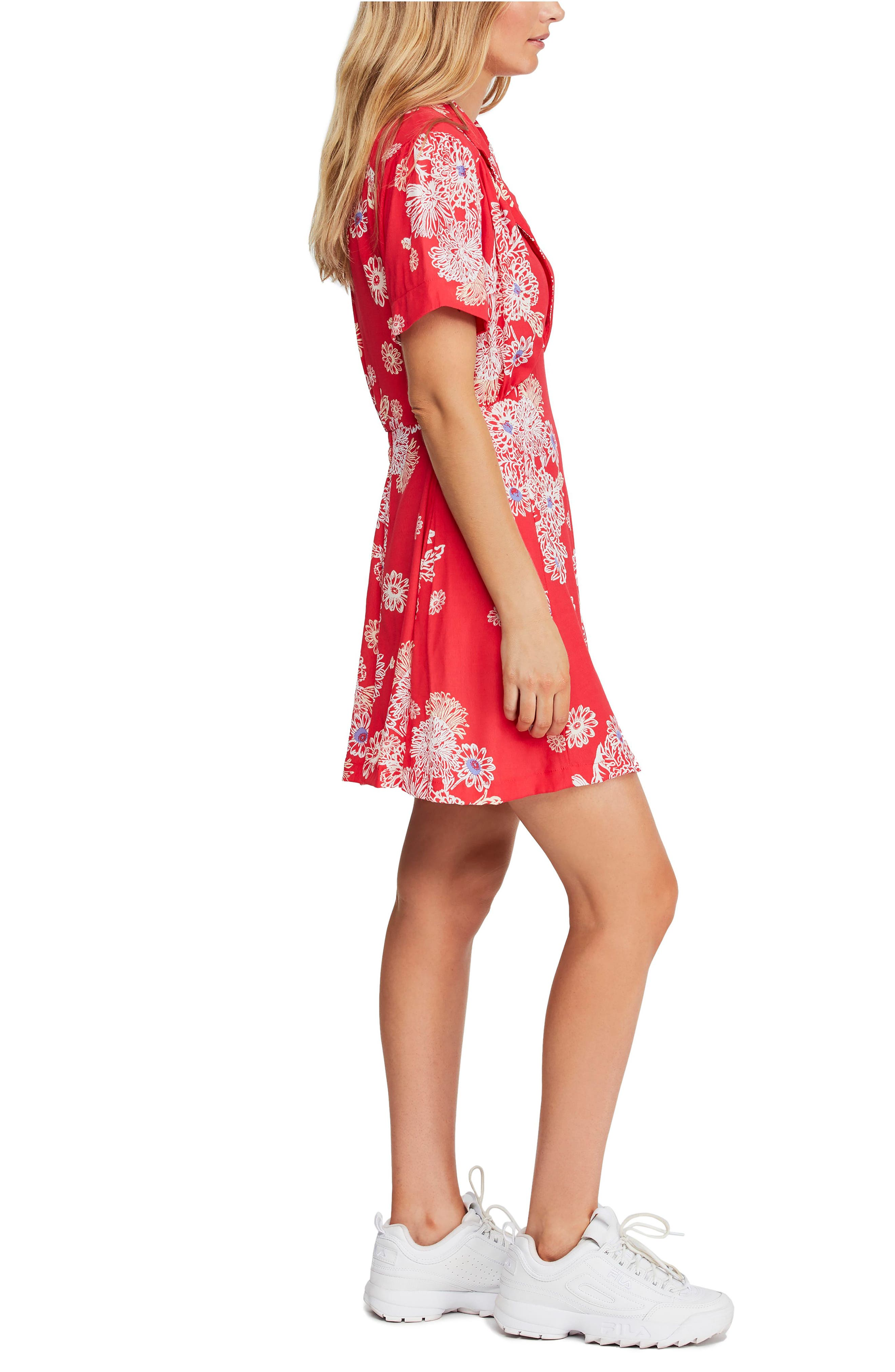 FREE PEOPLE, Blue Hawaii Minidress, Alternate thumbnail 4, color, RED COMBO