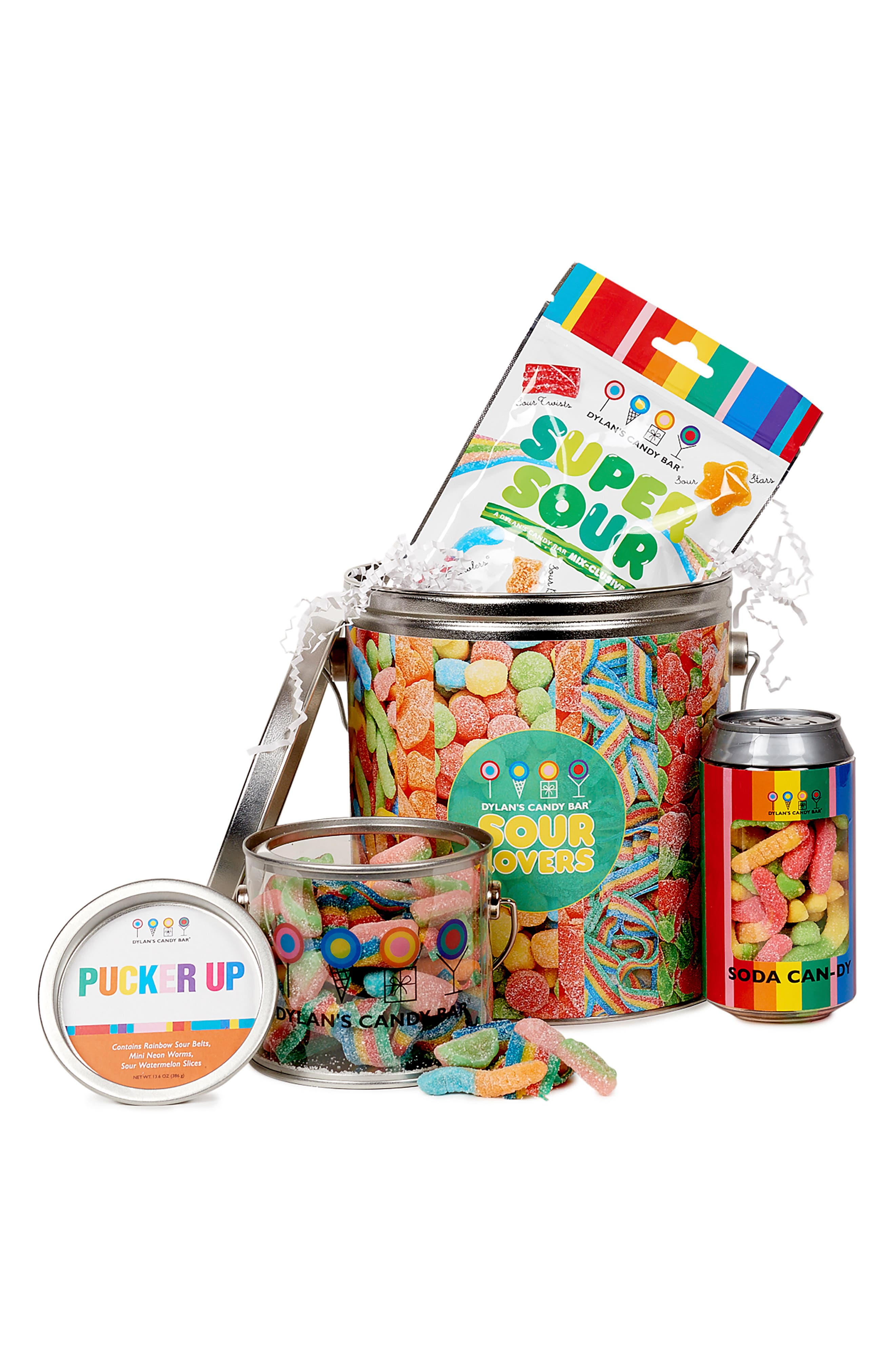 DYLAN'S CANDY BAR, Sour Lovers Bucket, Alternate thumbnail 4, color, MULTI
