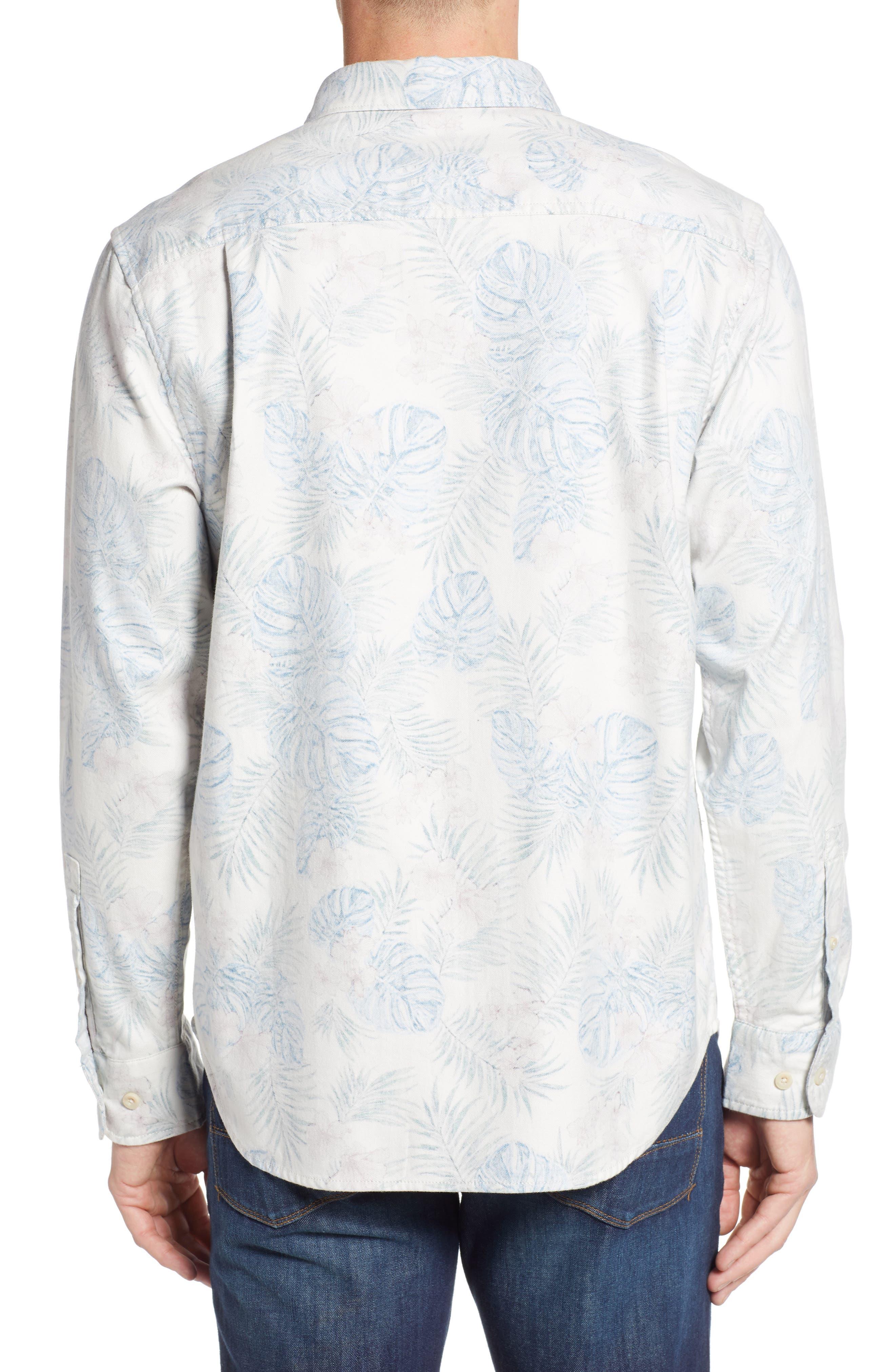 TOMMY BAHAMA, Beach Palms Long Sleeve Flannel Sport Shirt, Alternate thumbnail 2, color, 200