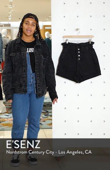 Paperbag Waist Denim Shorts, sales video thumbnail