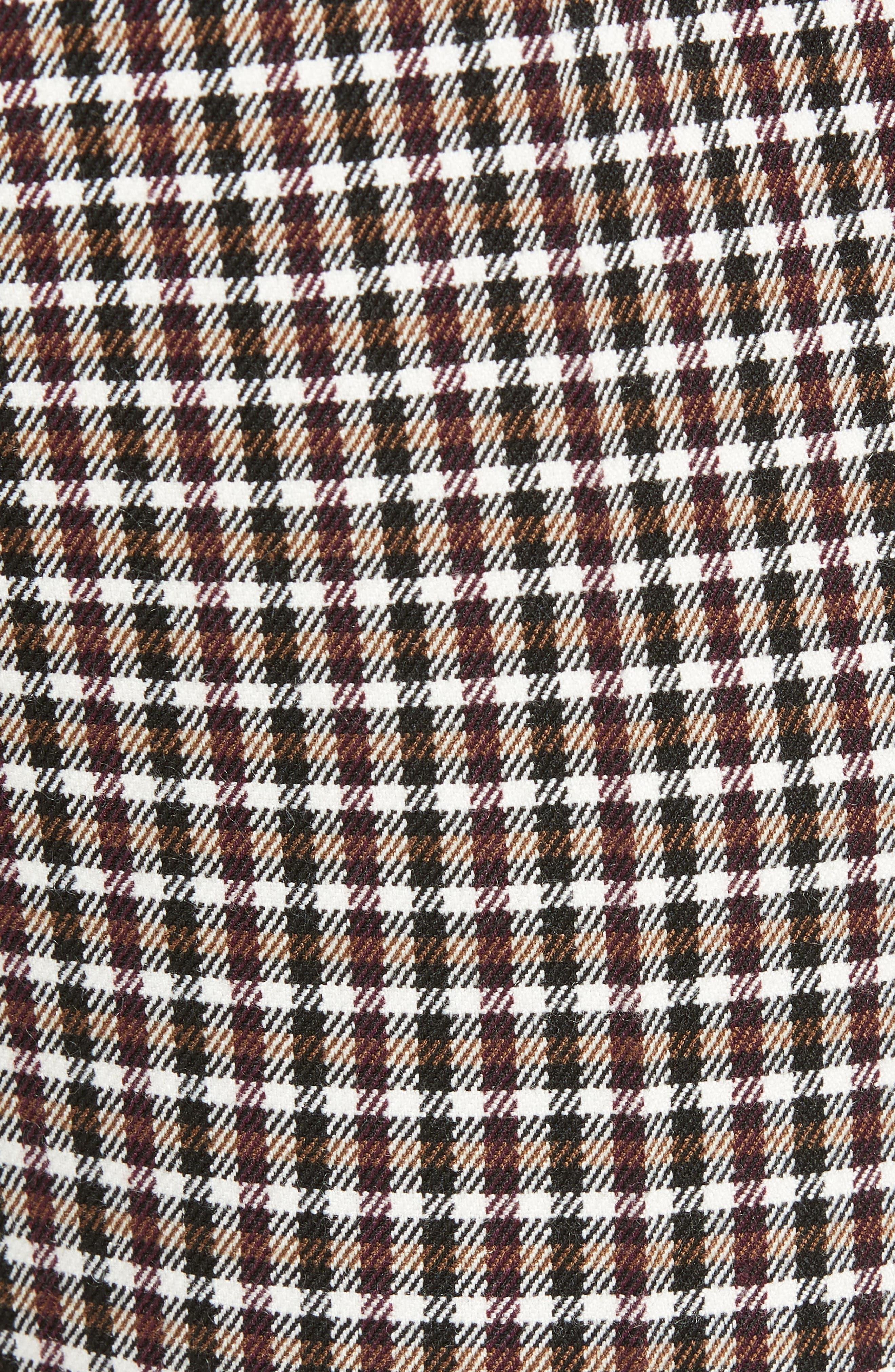TOPMAN, Multicheck Skinny Fit Trousers, Alternate thumbnail 5, color, BLACK MULTI