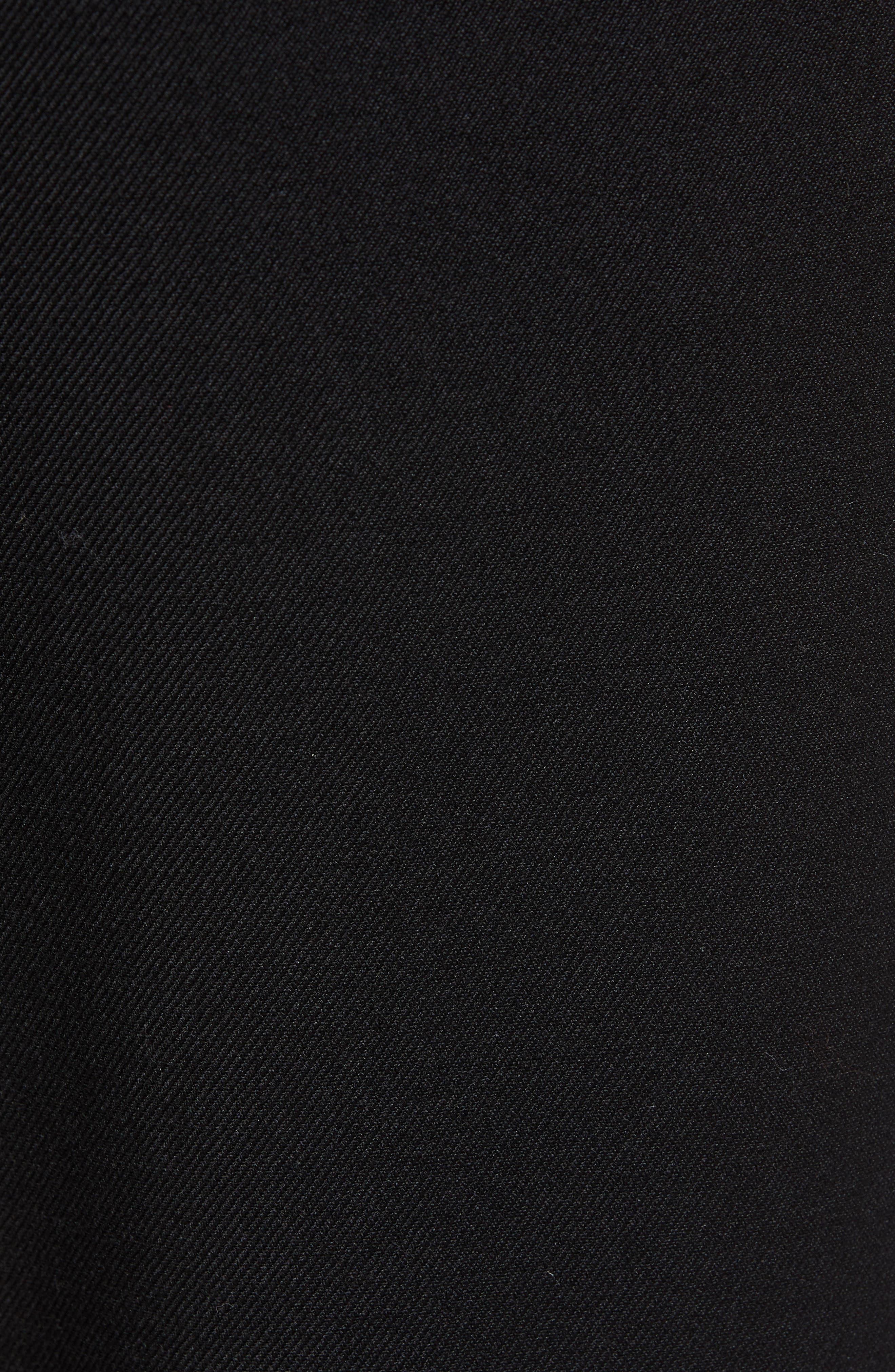 THE KOOPLES, Straight Leg Woven Jogger Pants, Alternate thumbnail 6, color, BLACK