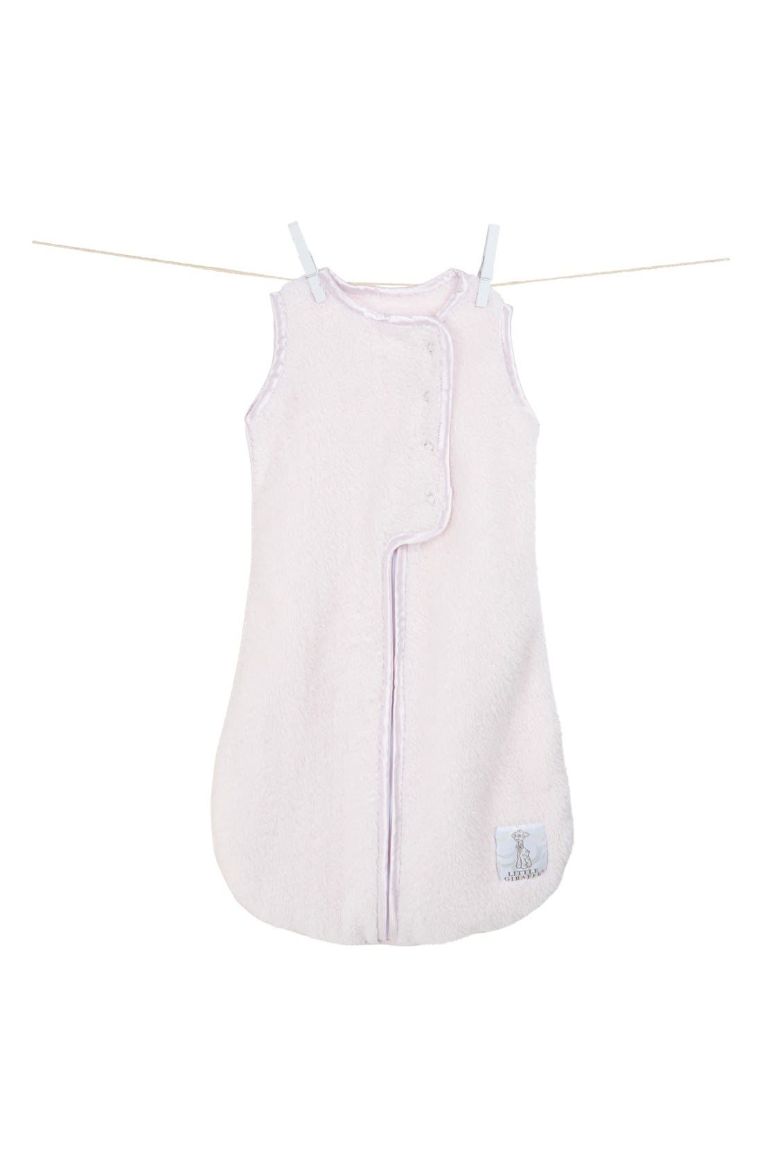 LITTLE GIRAFFE, Dream Sack<sup>™</sup> Chenille Wearable Blanket, Alternate thumbnail 2, color, PINK
