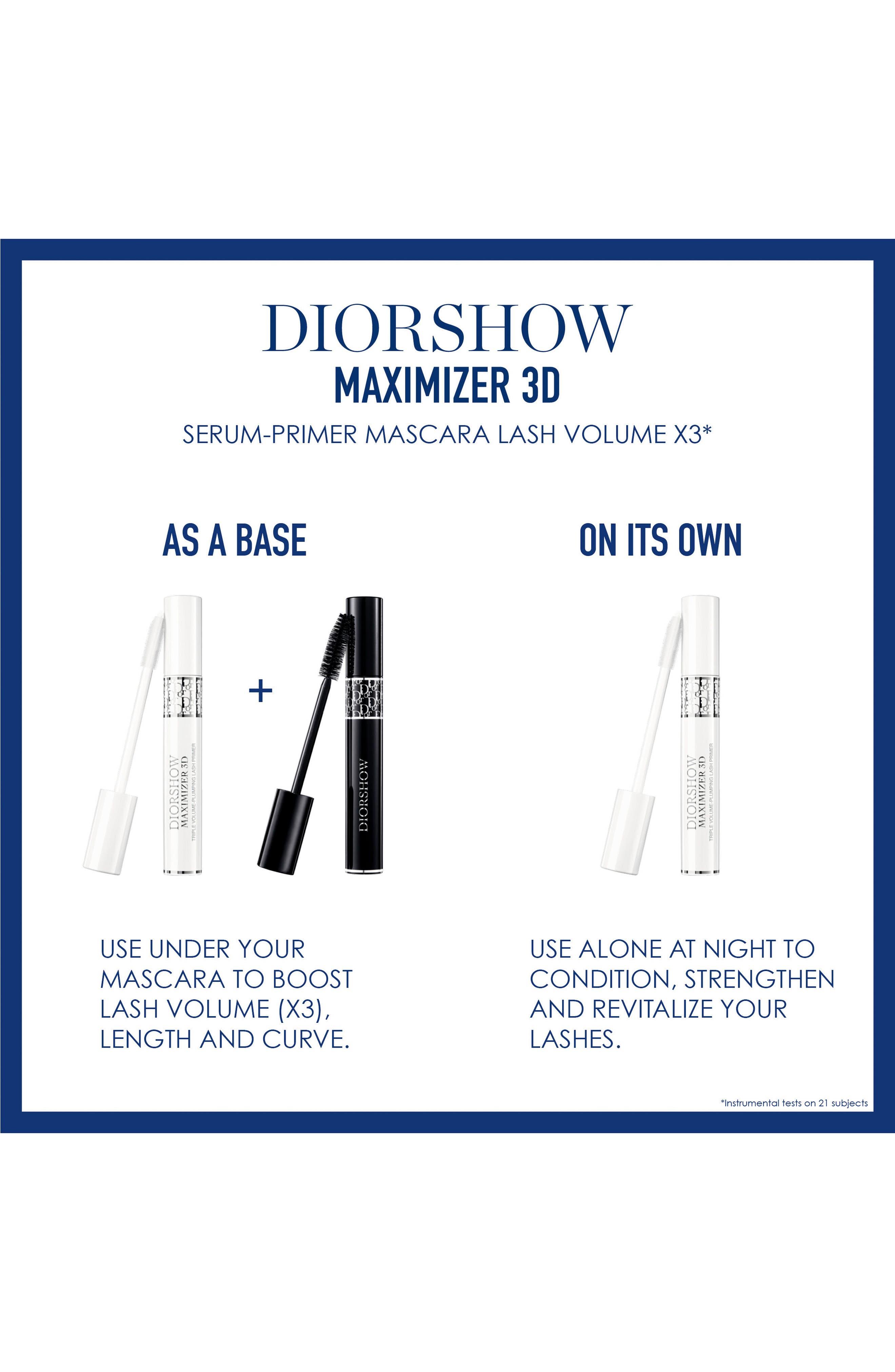 DIOR, Diorshow Maximizer 3D Triple Volume Plumping Lash Primer, Alternate thumbnail 2, color, NO COLOR