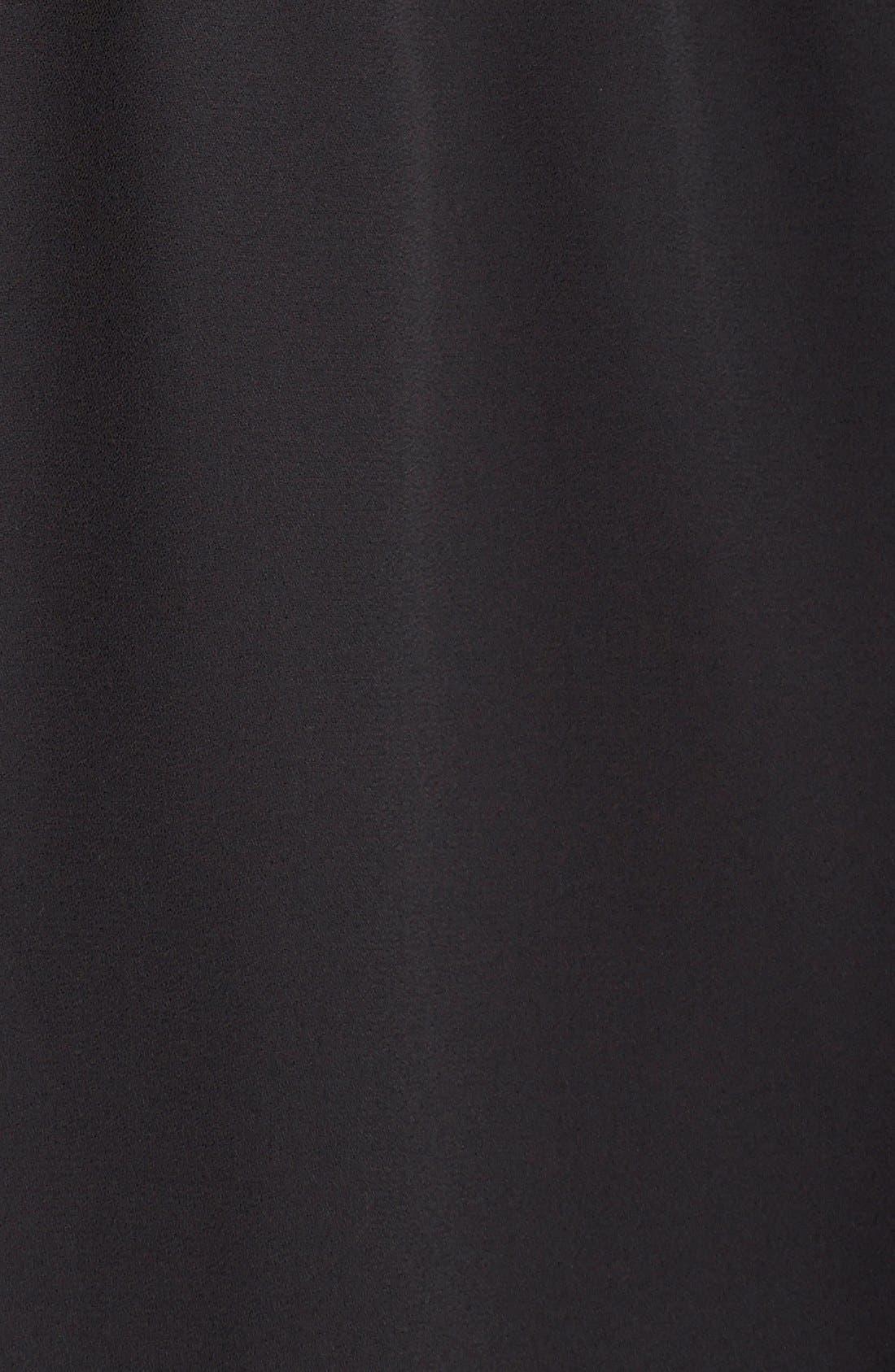 CHARLES HENRY, Crepe Shirtdress, Alternate thumbnail 3, color, 001