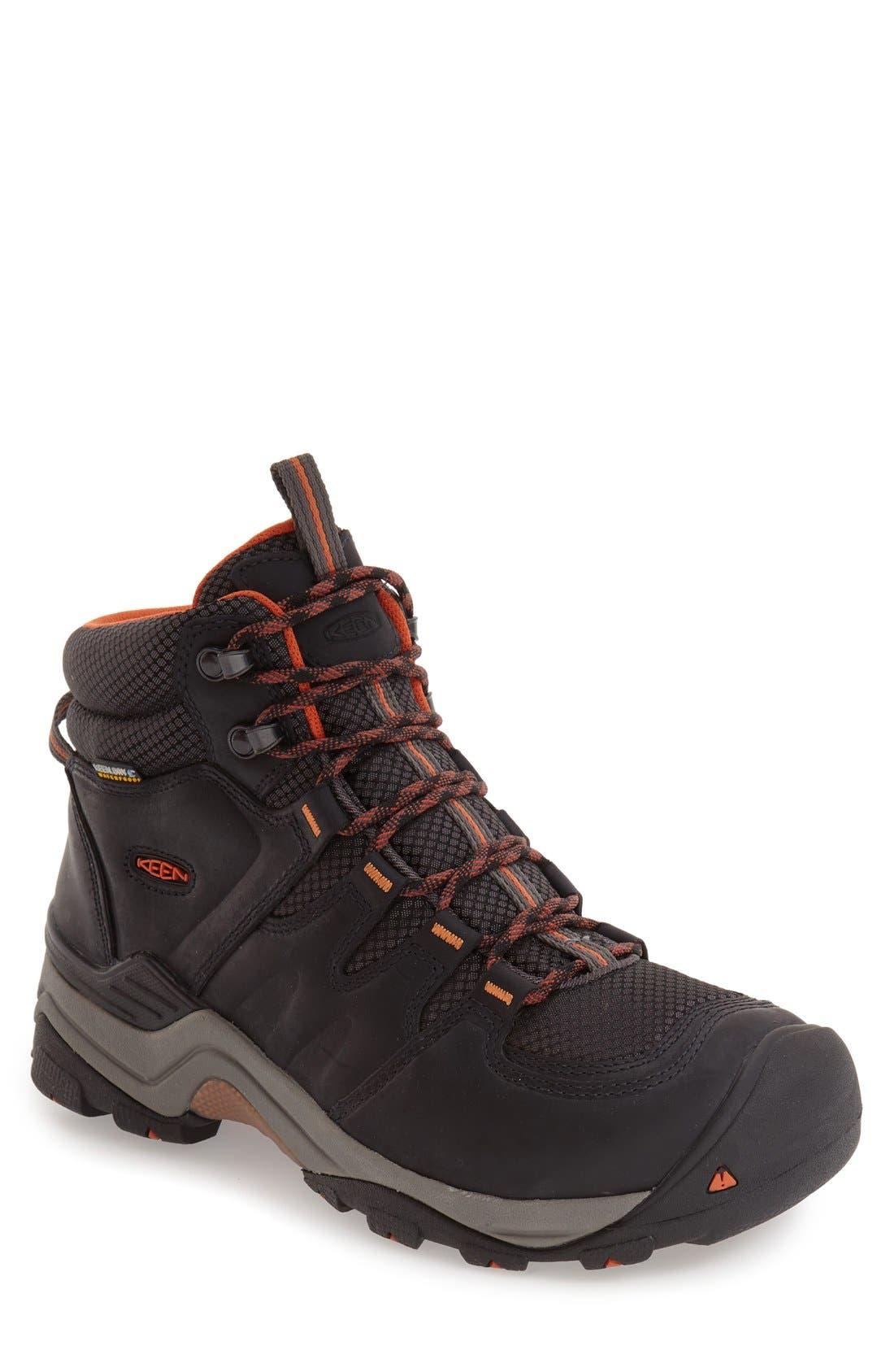 KEEN, Gypsum II Waterproof Hiking Boot, Main thumbnail 1, color, BLACK NUBUCK LEATHER