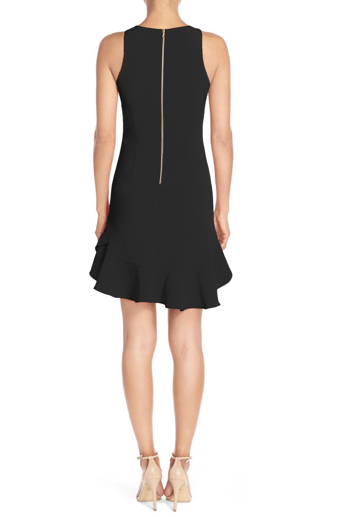 CHELSEA28, Tiered Ruffle Hem Mini Dress, Alternate thumbnail 8, color, 001