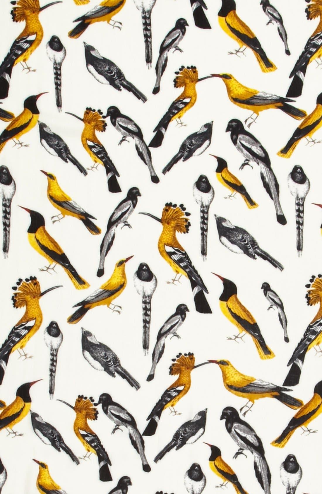 ECHO, 'Beacon's Birds' Scarf, Alternate thumbnail 3, color, 107