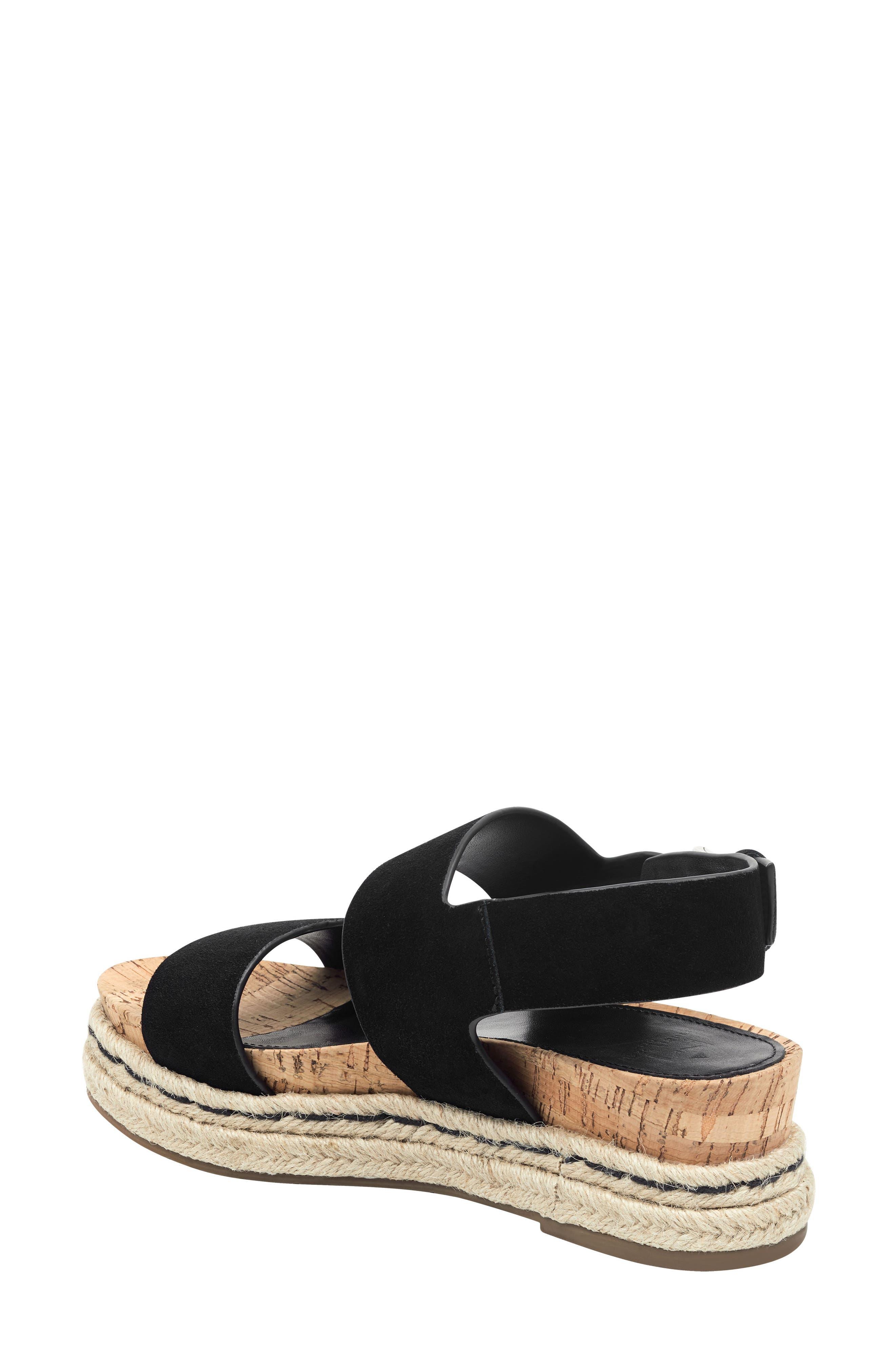 MARC FISHER LTD, Oria Espadrille Platform Sandal, Alternate thumbnail 2, color, BLACK SUEDE