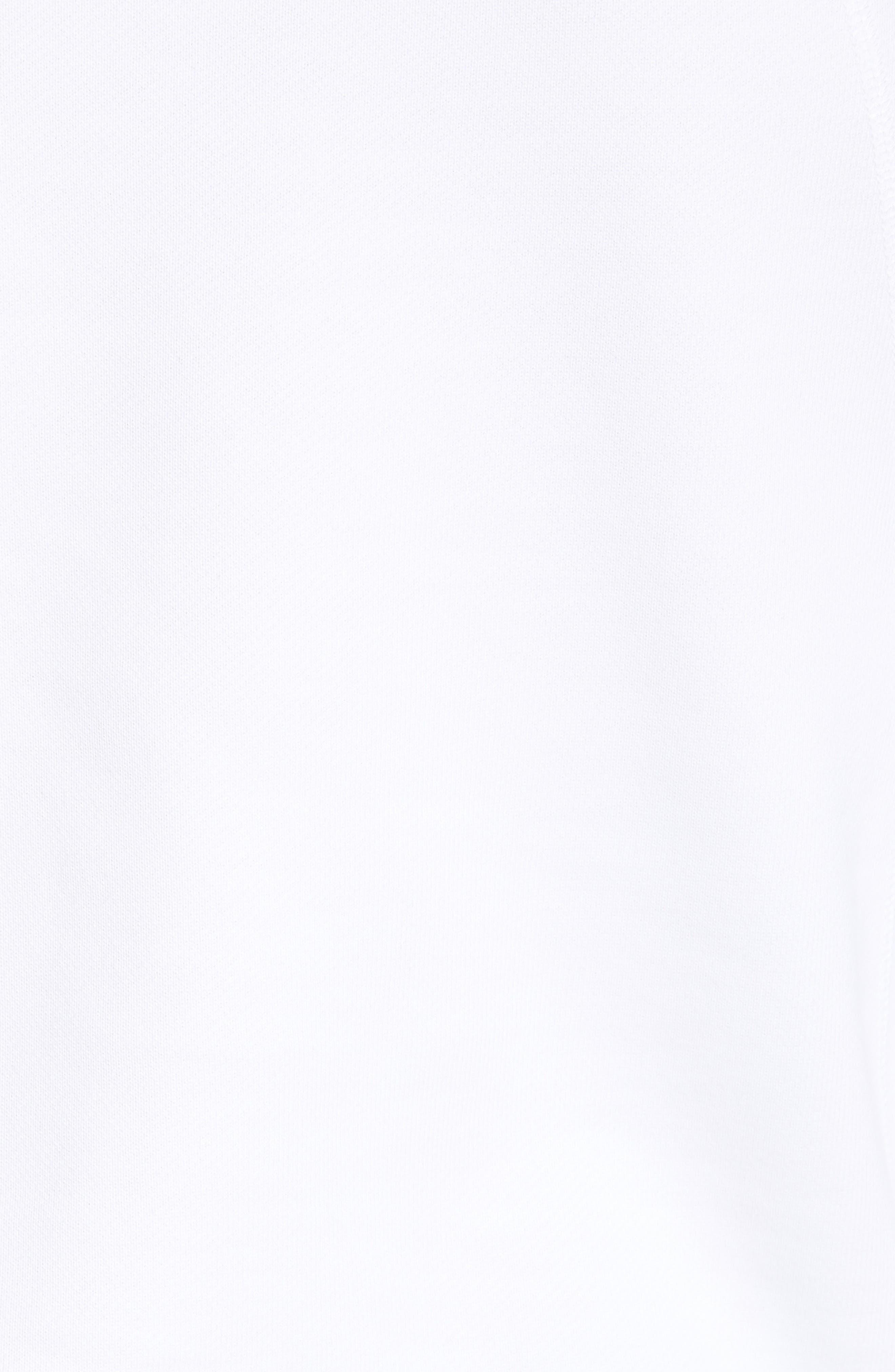 JORDAN, Sportswear Greatest Fleece Pullover Hoodie, Alternate thumbnail 6, color, WHITE/ BLACK