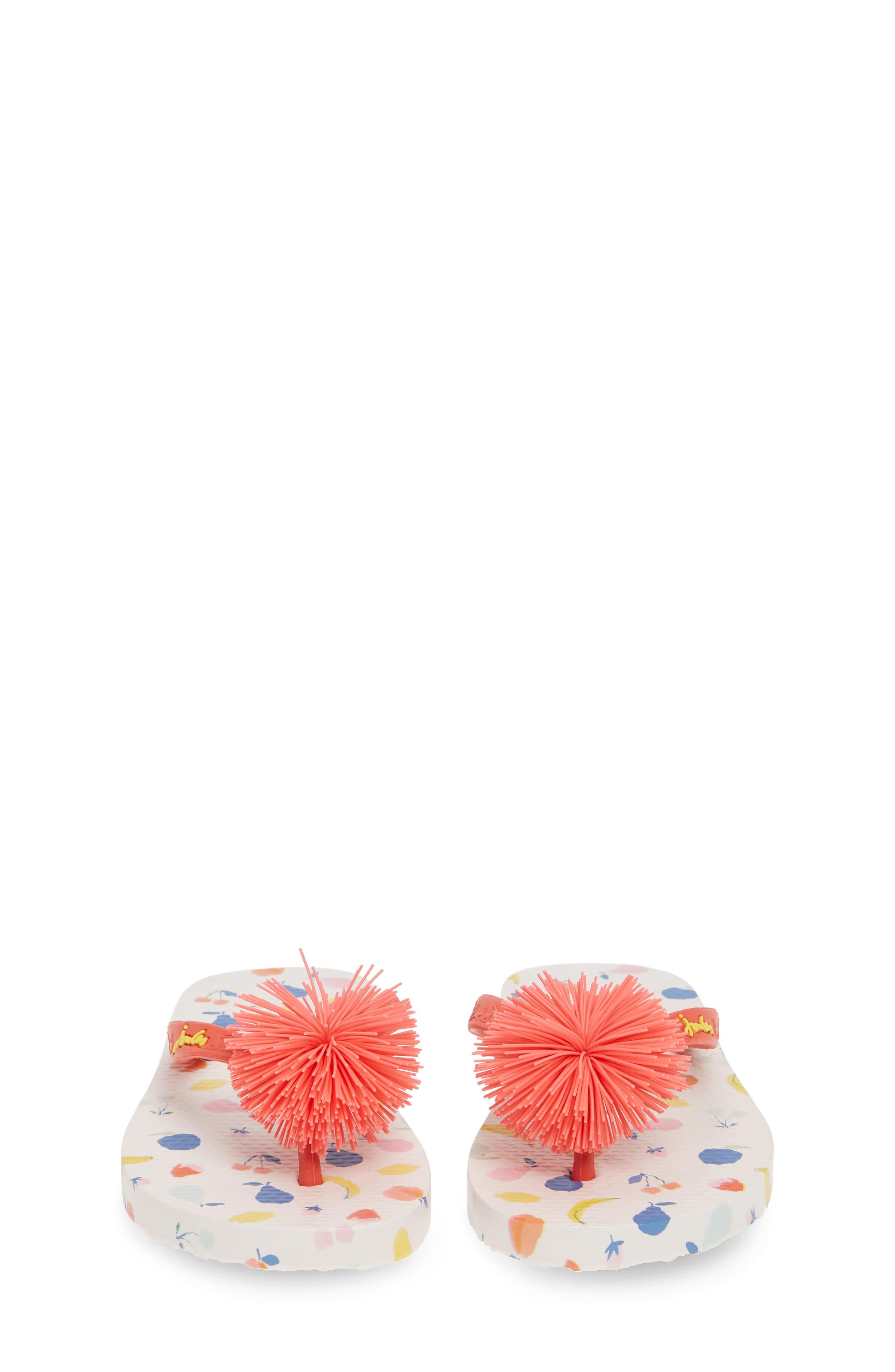 JOULES, Embellished Flip Flop, Alternate thumbnail 5, color, WHITE PETALS