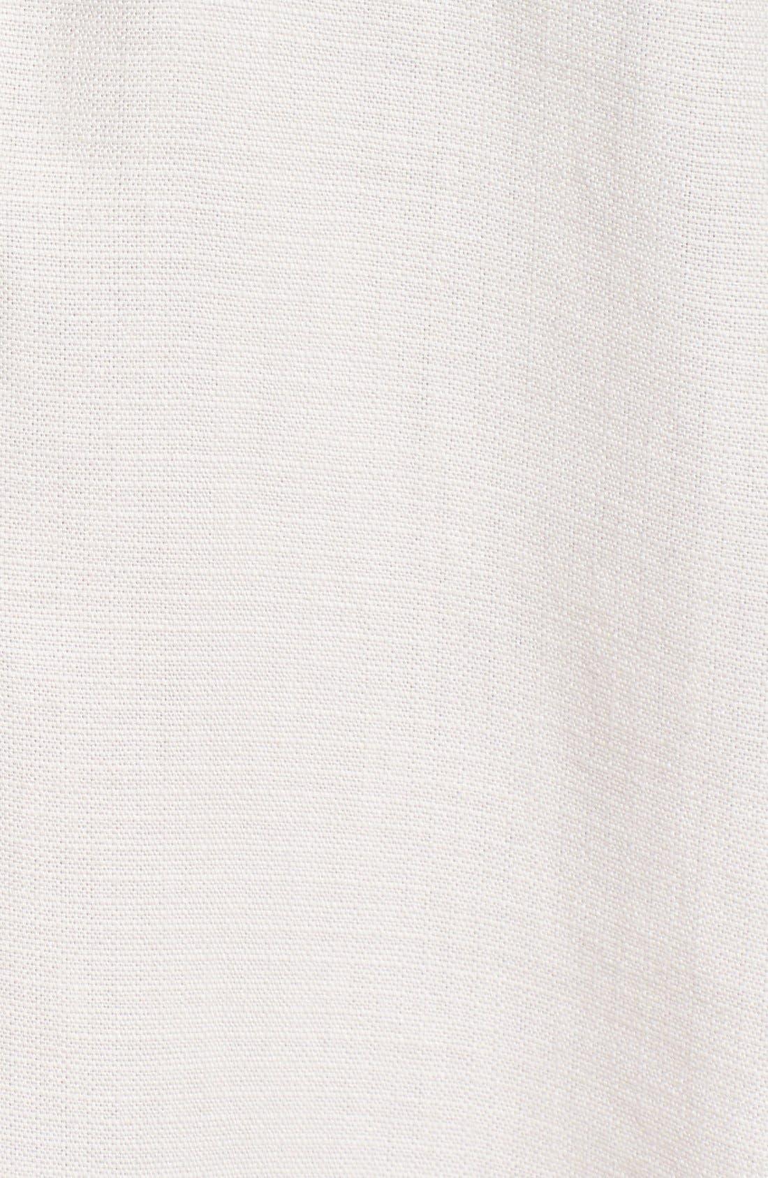 SIDE STITCH, Sleeveless Band Collar Shirtdress, Alternate thumbnail 6, color, 020