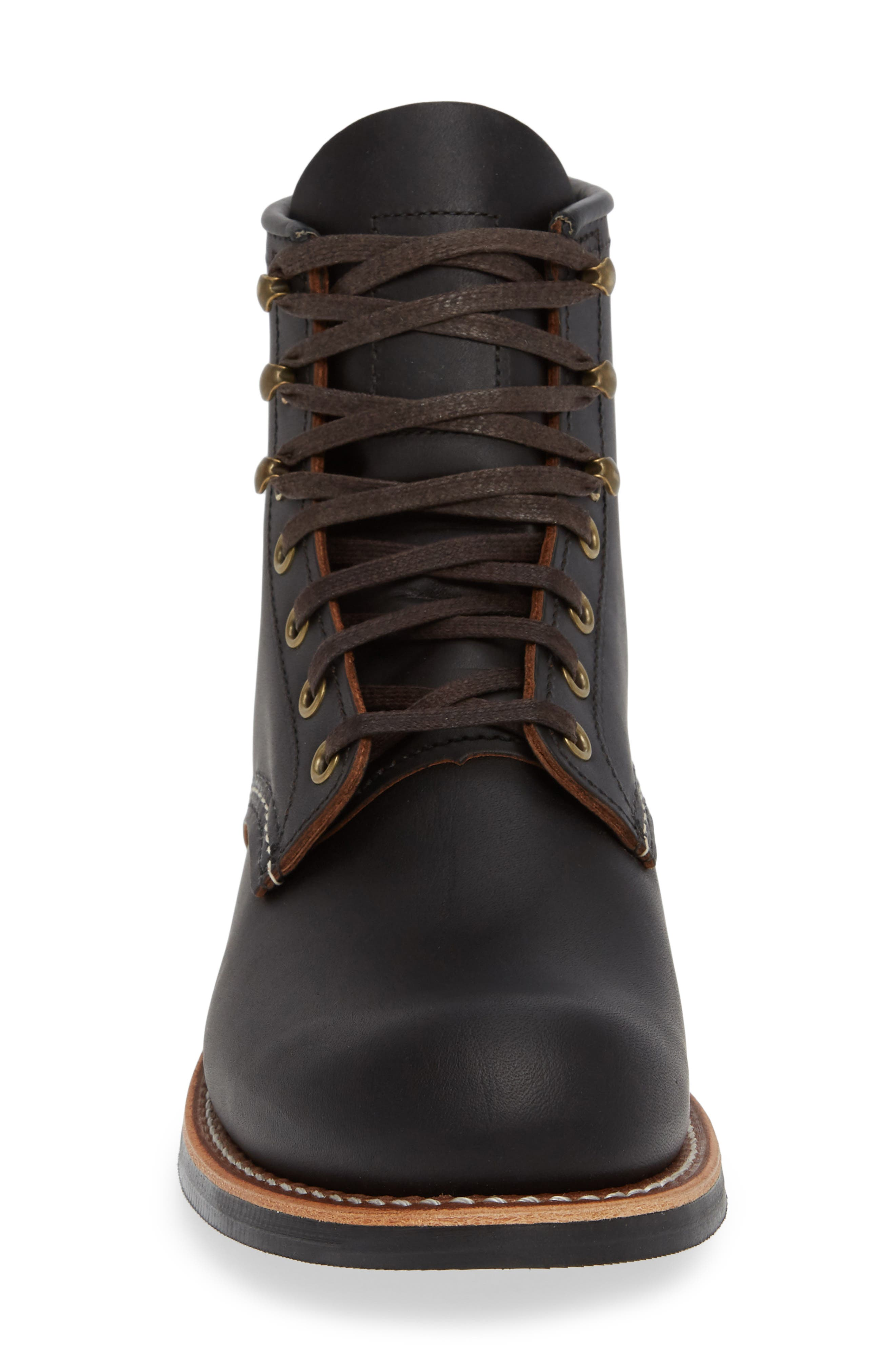 RED WING, Blacksmith Boot, Alternate thumbnail 4, color, BLACK LEATHER