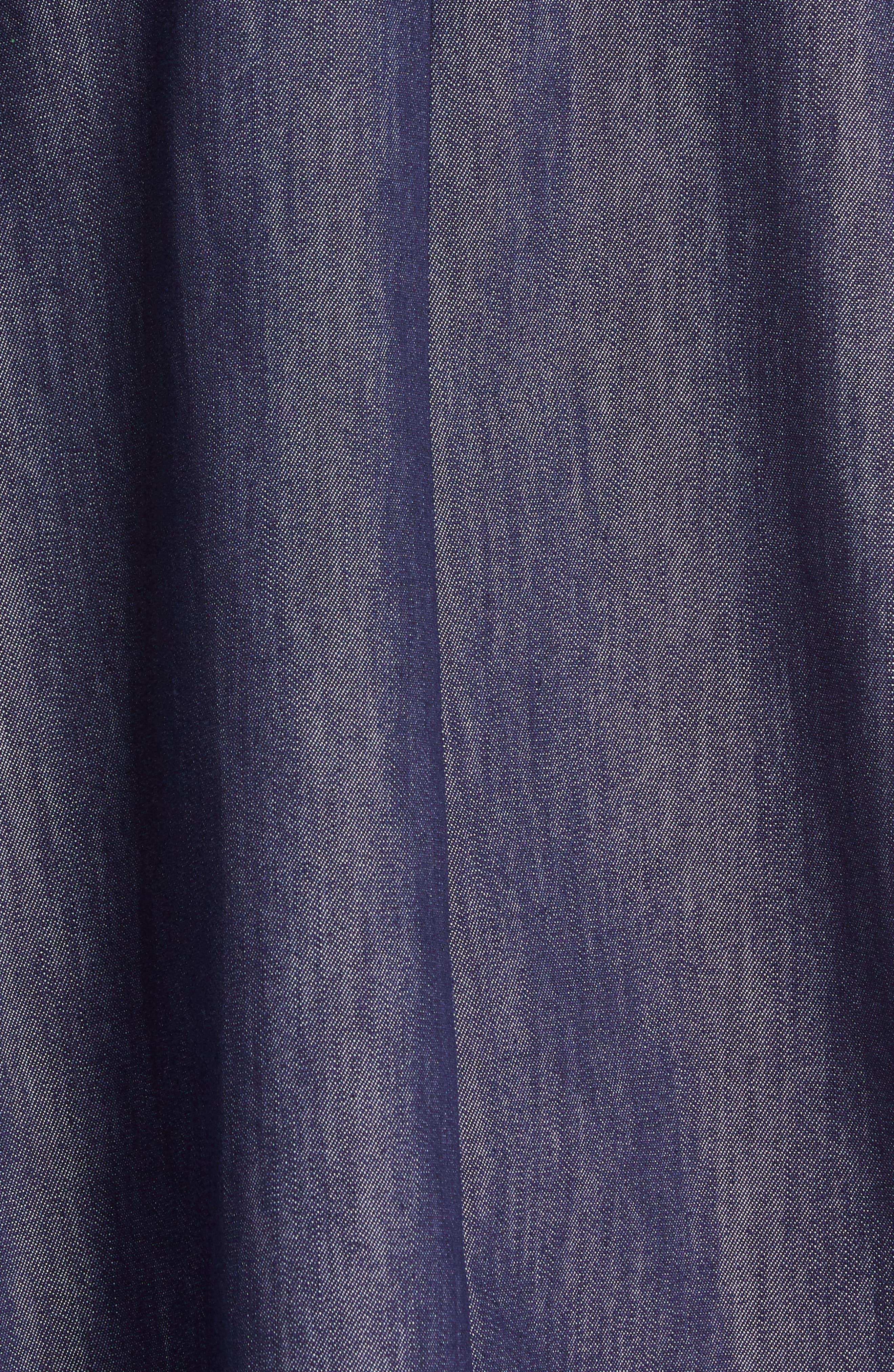 TOMMY X ZENDAYA, Belted Denim Skirt, Alternate thumbnail 5, color, 402