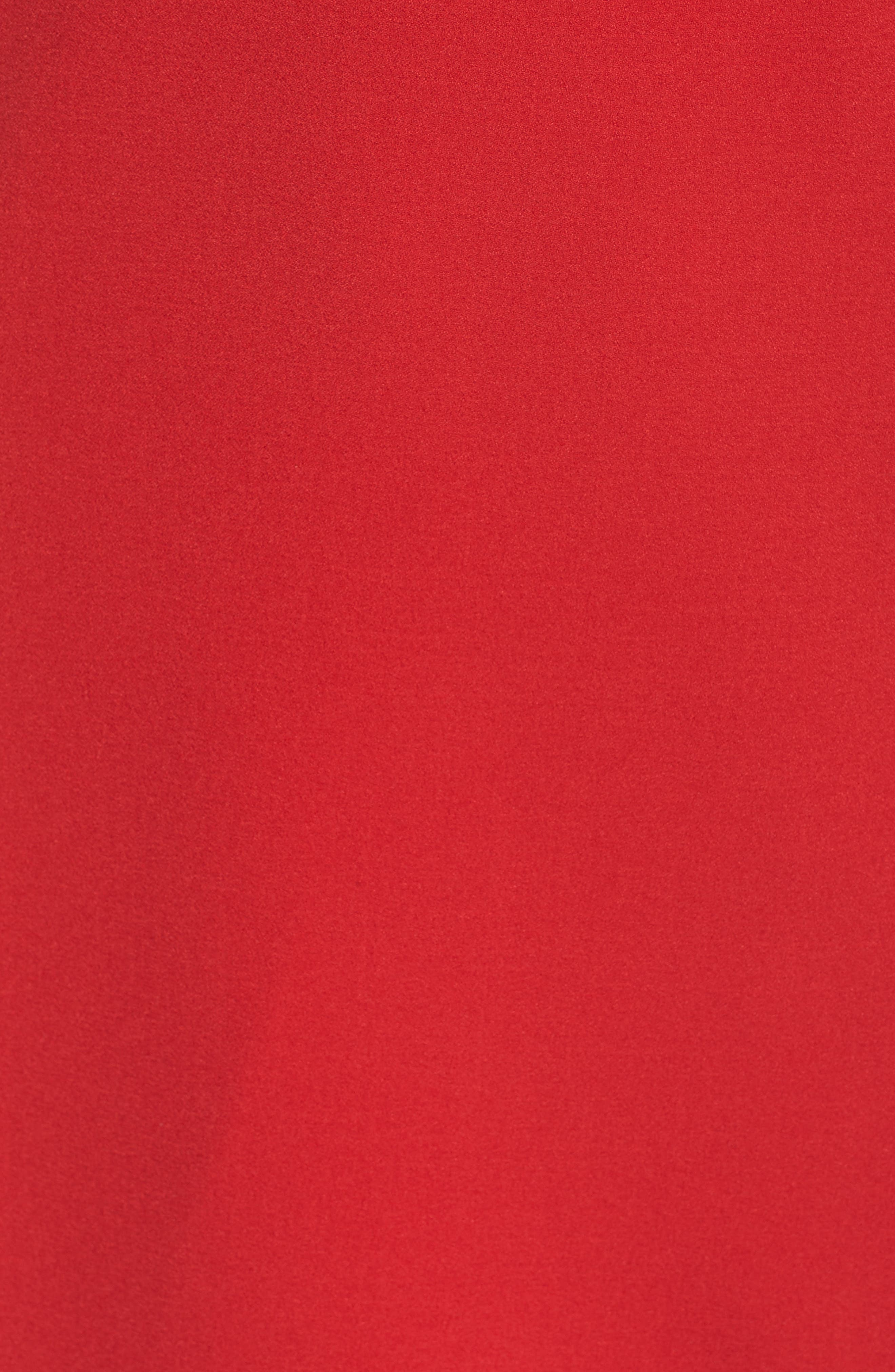 VINCE CAMUTO, Halter Tie Neck A-Line Dress, Alternate thumbnail 7, color, RED