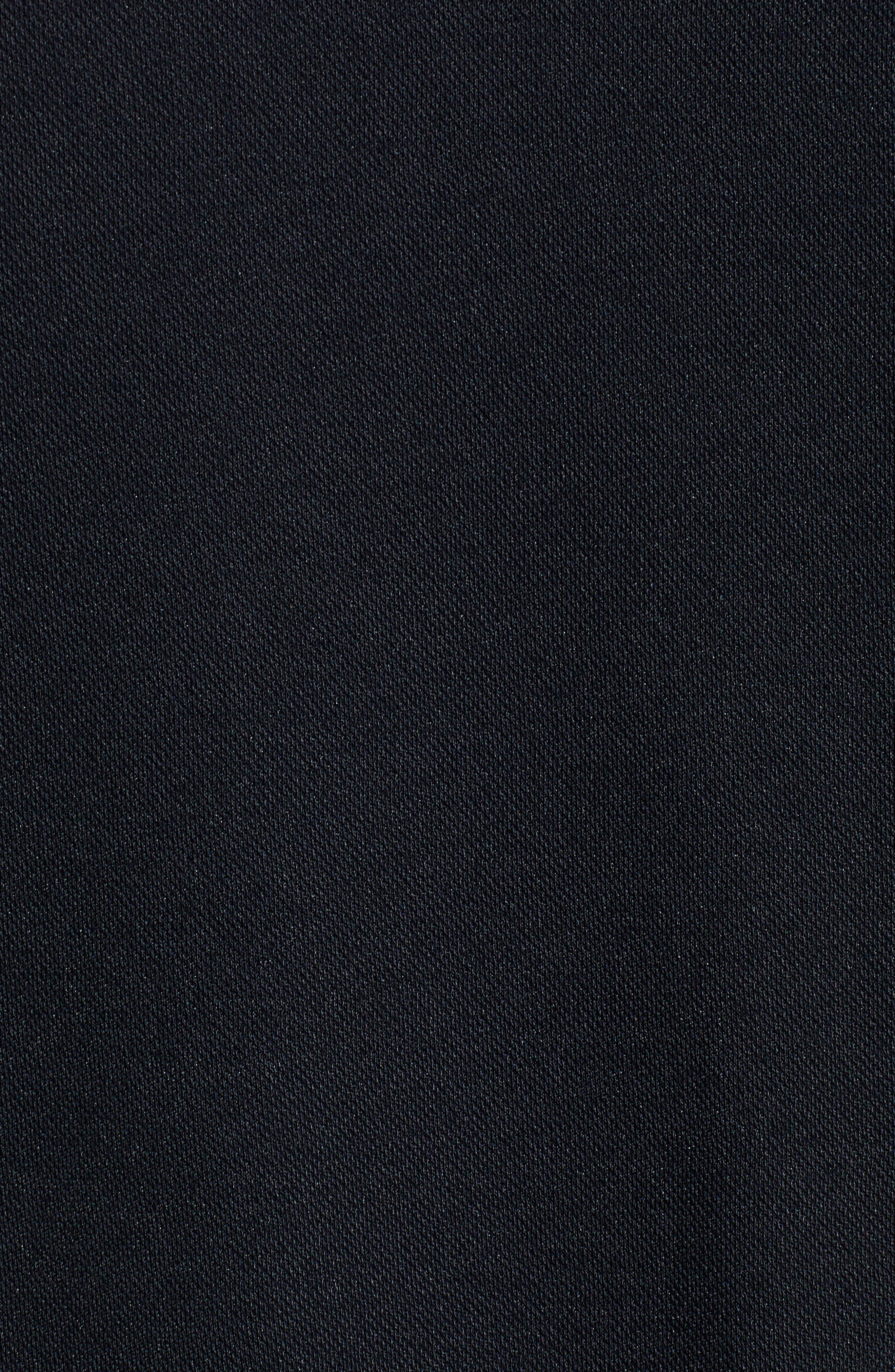 TRAVISMATHEW, Burns Regular Fit Polo, Alternate thumbnail 5, color, BLACK