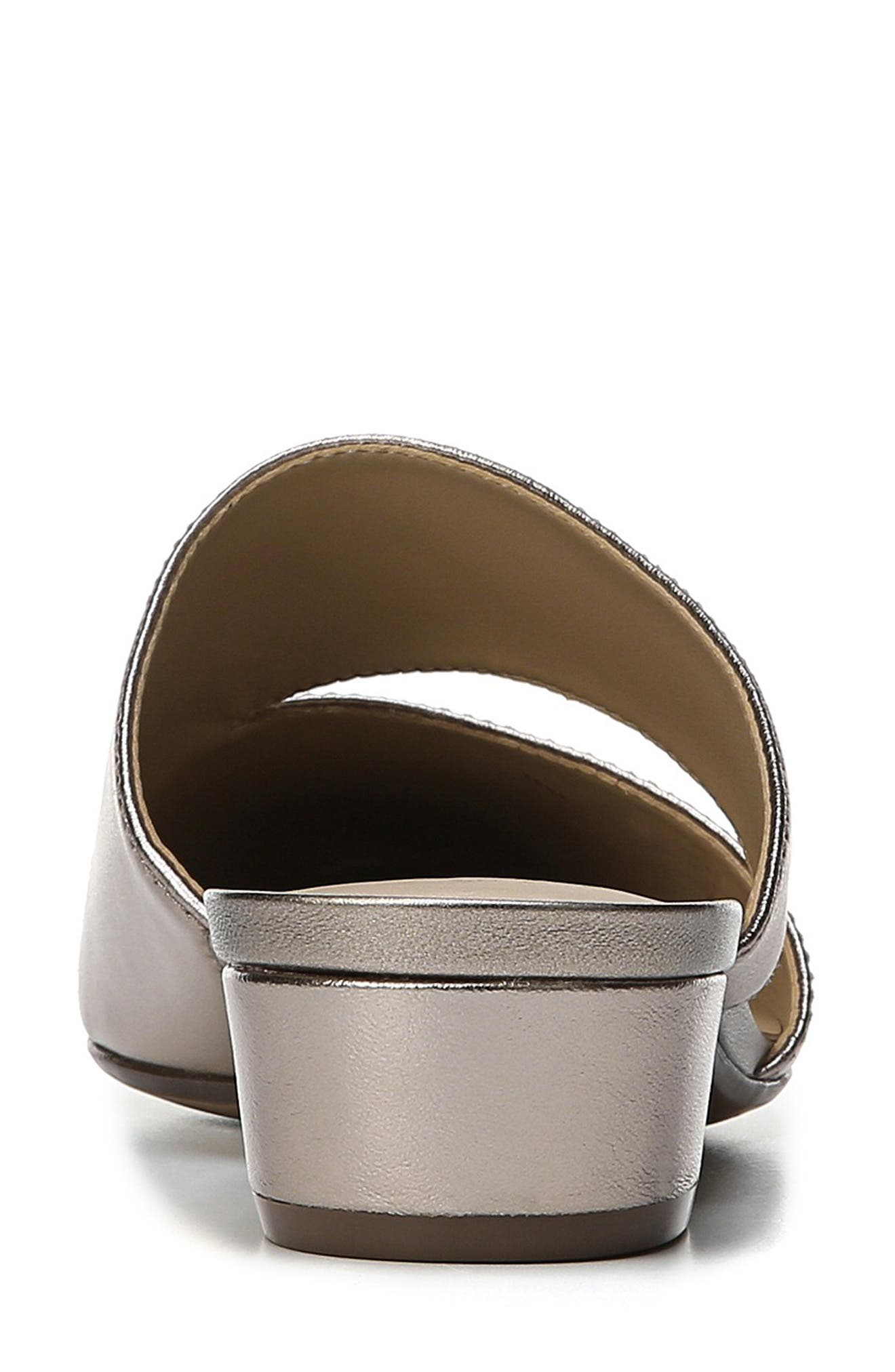 NATURALIZER, Bev Pointy Toe Mule, Alternate thumbnail 7, color, LIGHT BRONZE METALLIC LEATHER