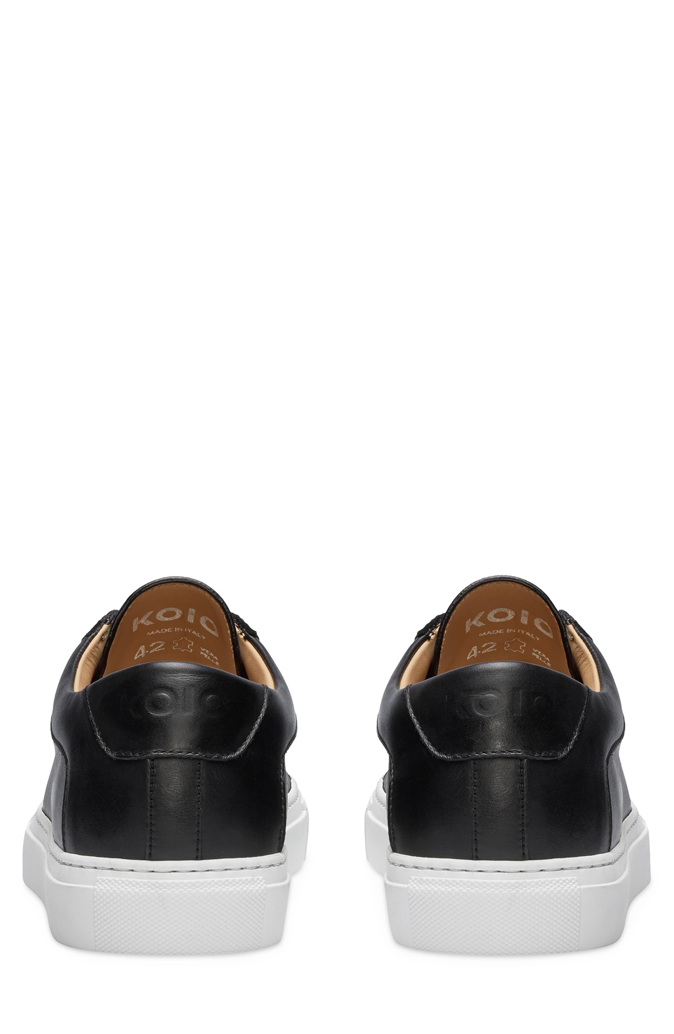 KOIO, Capri Sneaker, Alternate thumbnail 4, color, ONYX
