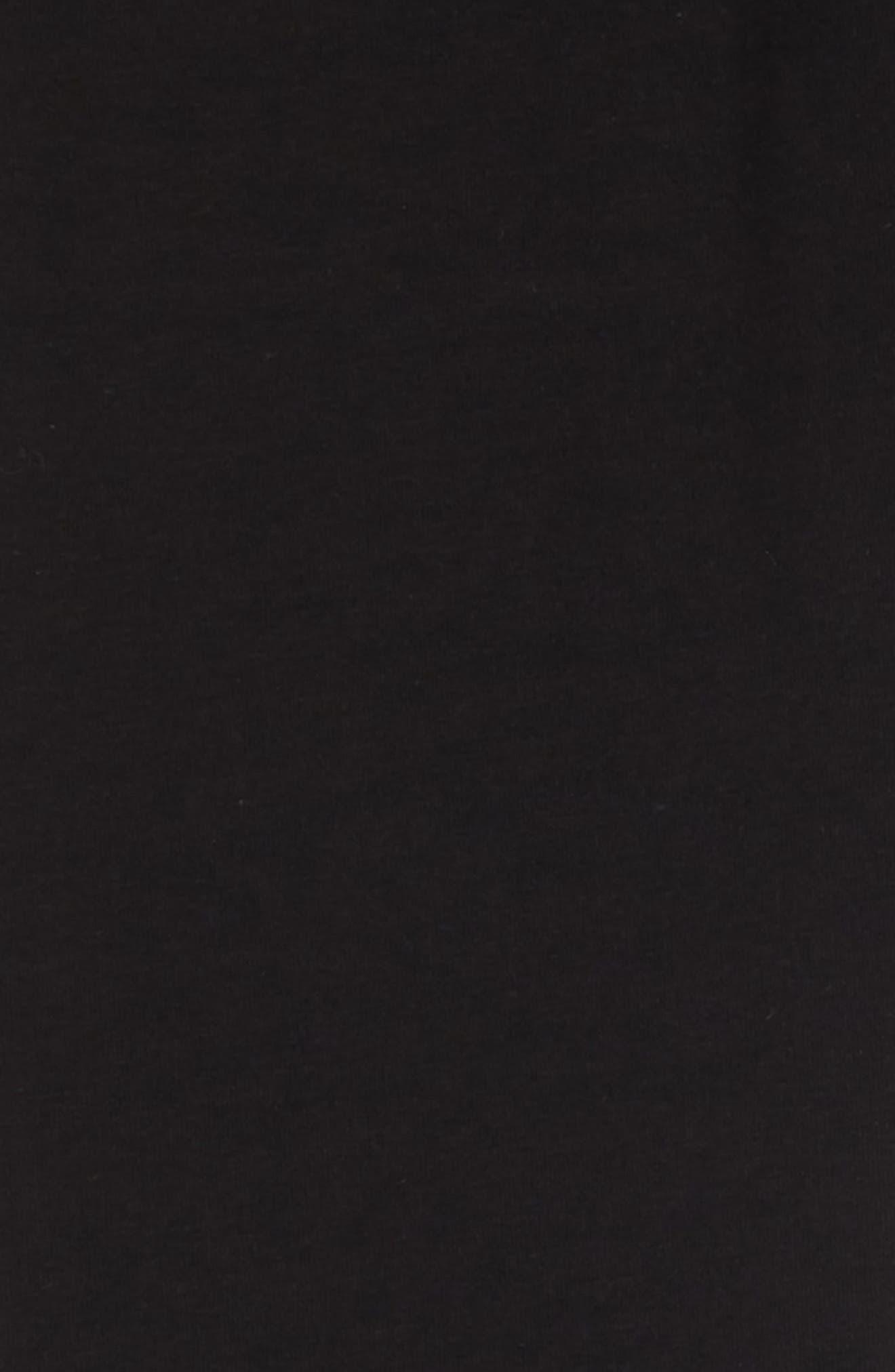 NIKE, Sportswear Swoosh Leggings, Alternate thumbnail 2, color, BLACK/ WHITE