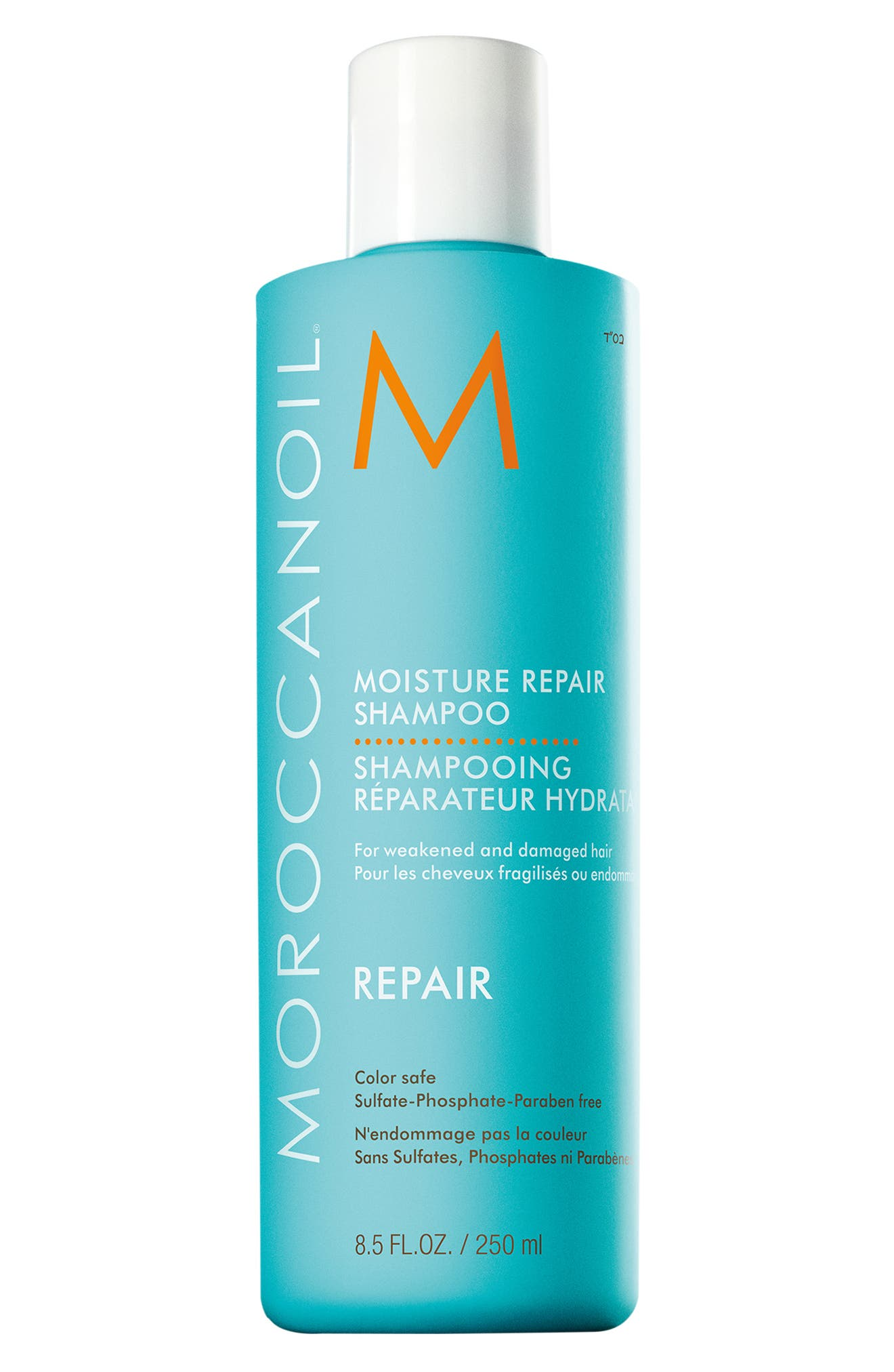 MOROCCANOIL<SUP>®</SUP>, Moisture Repair Shampoo, Main thumbnail 1, color, NO COLOR