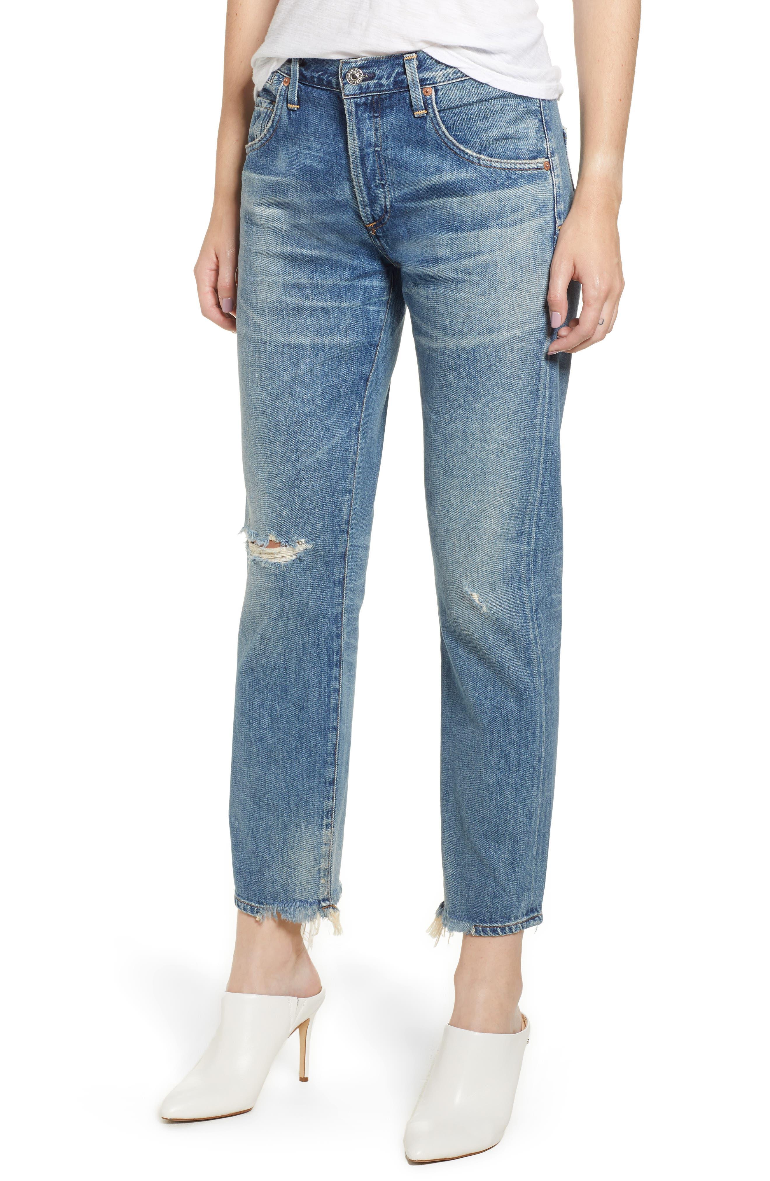 CITIZENS OF HUMANITY Emerson Slim Boyfriend Jeans, Main, color, HAVEN