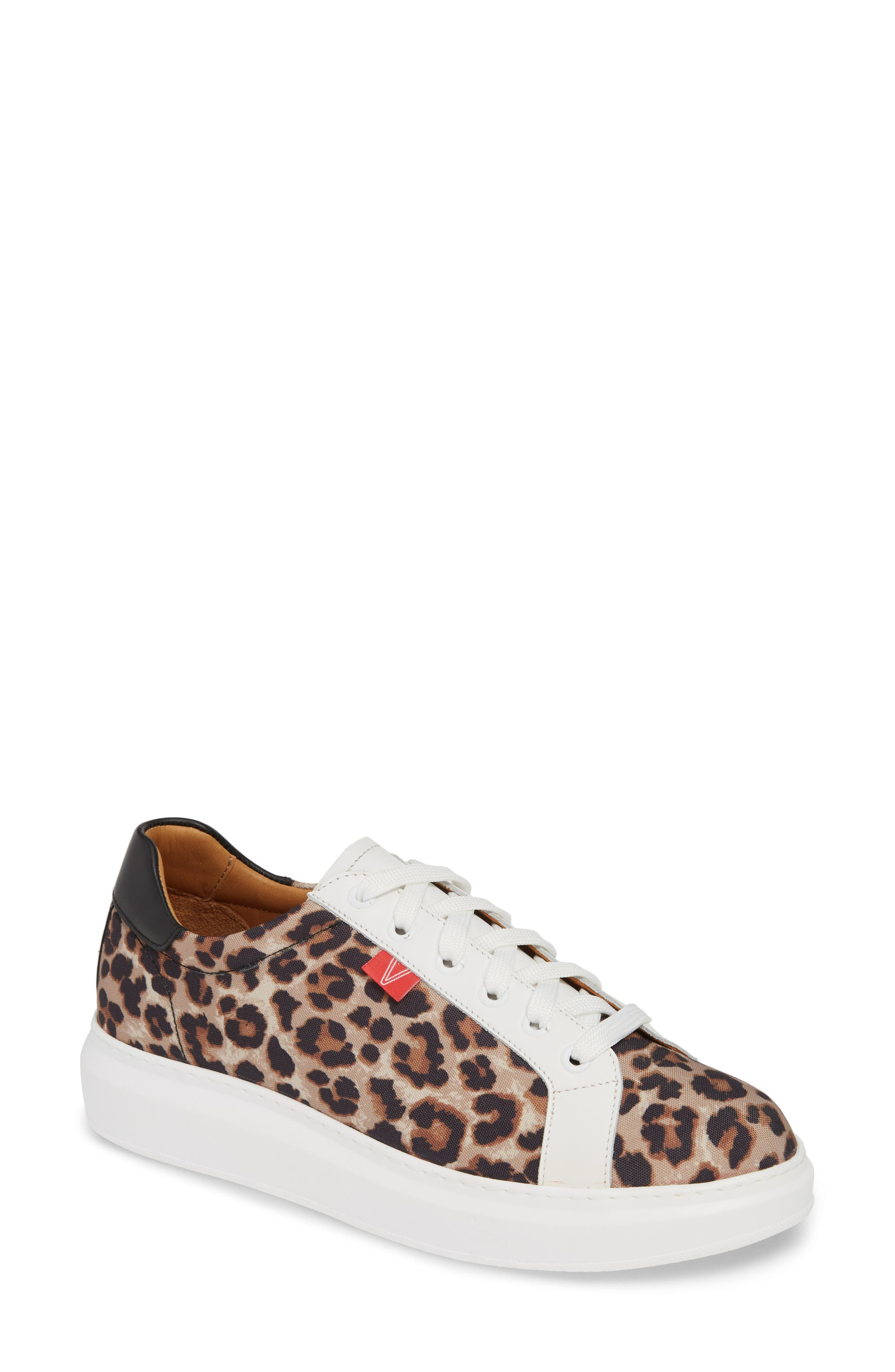 VERONICA BEARD, Daelyn Leopard Print Sneaker, Main thumbnail 1, color, LEOPARD