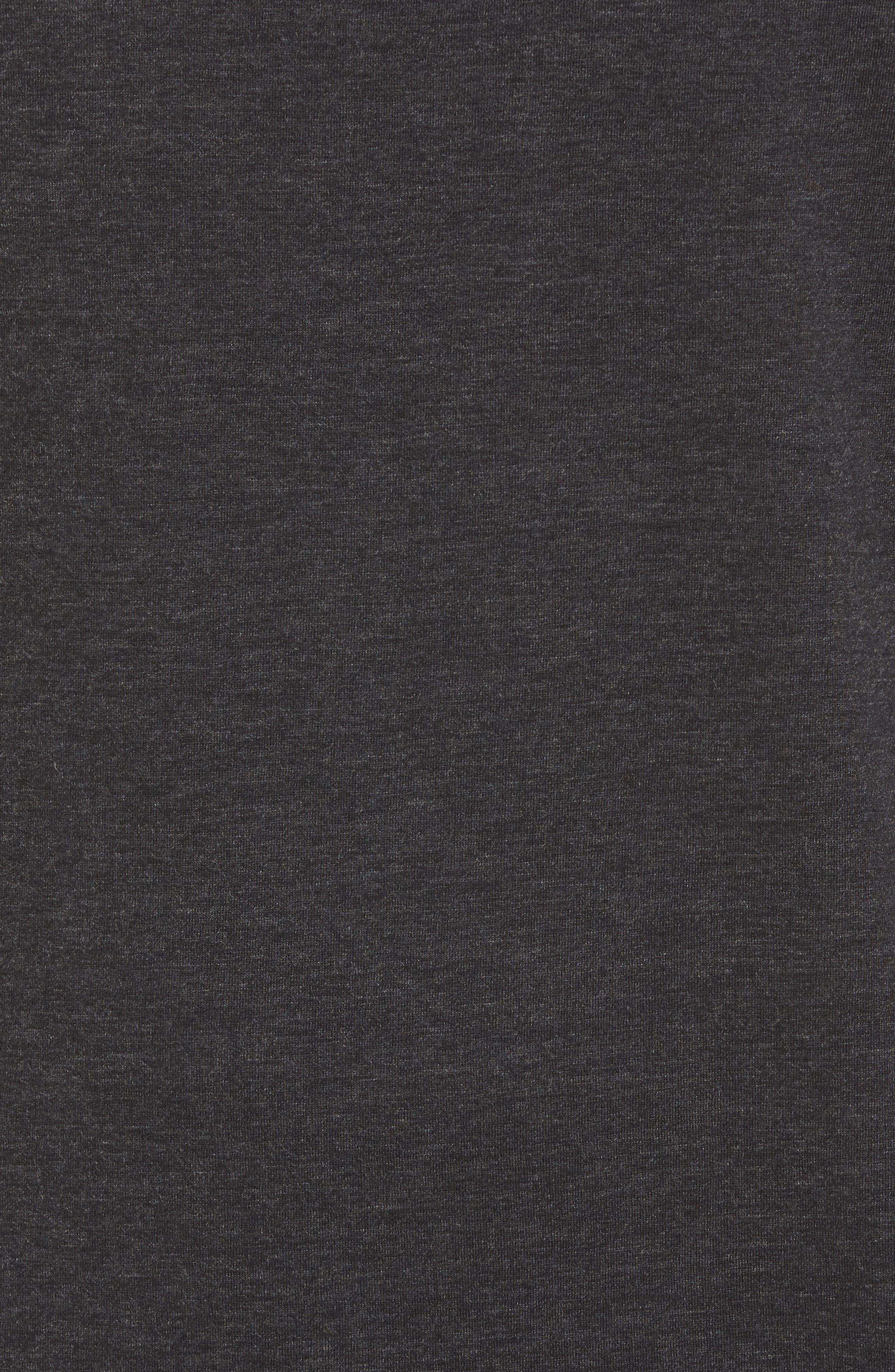 ALO, The Triumph Sleeveless T-Shirt, Alternate thumbnail 5, color, CHARCOAL BLACK TRIBLEND