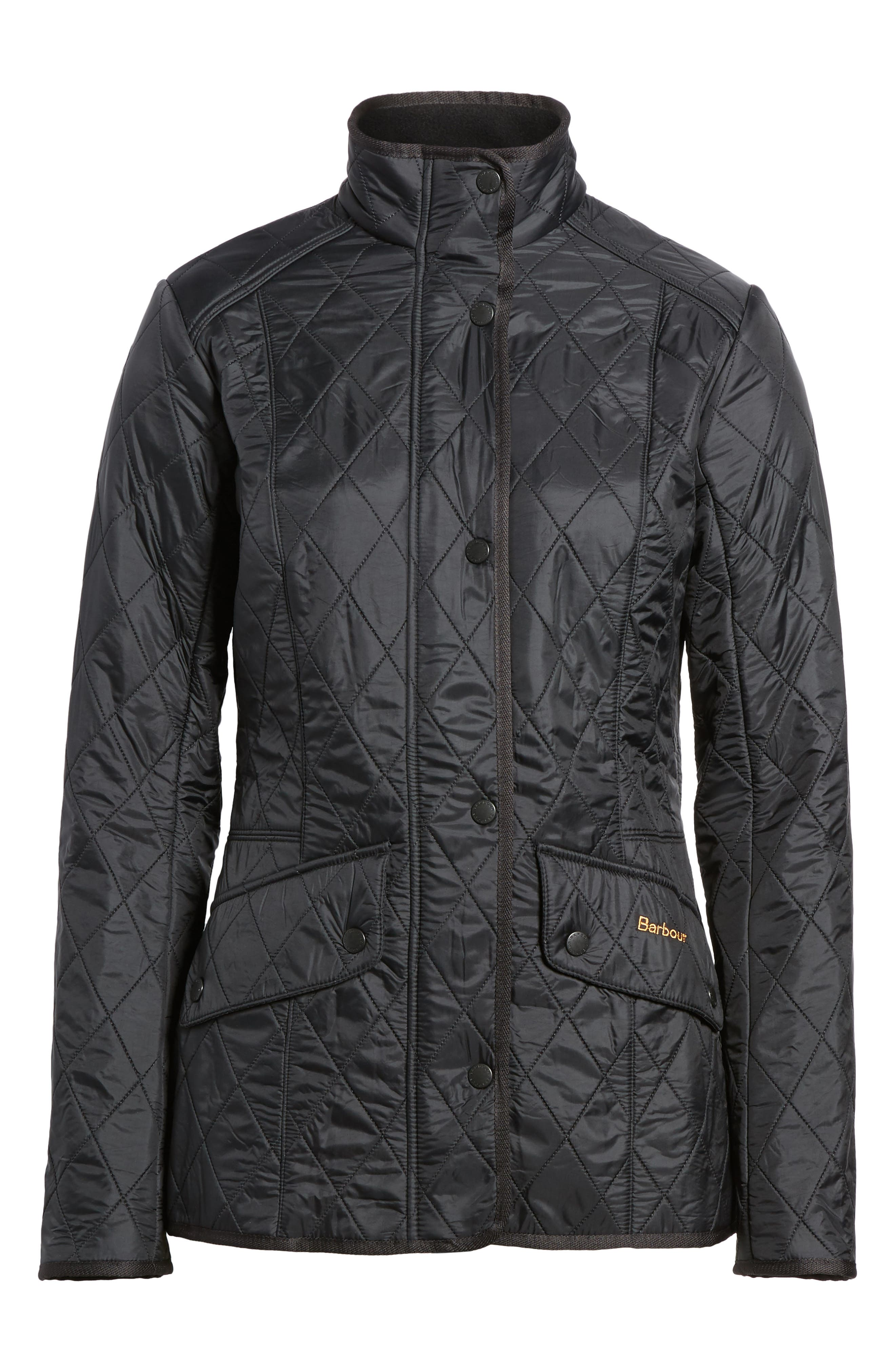 BARBOUR, 'Cavalry' Quilted Jacket, Alternate thumbnail 5, color, 001