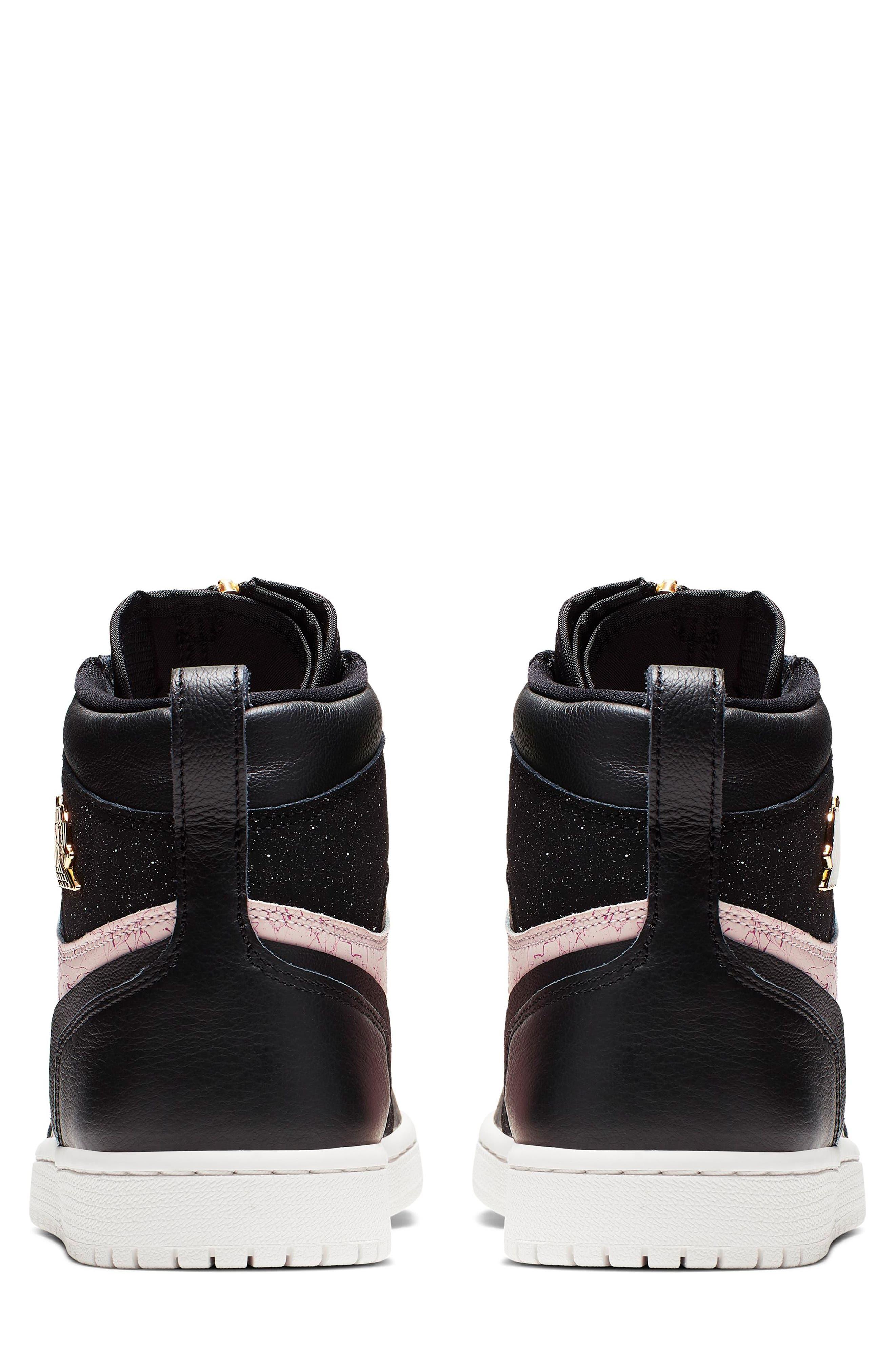 NIKE, Air Jordan 1 Zip High Top Sneakers, Alternate thumbnail 2, color, BLACK/ GOLD/ PHANTOM/ RED