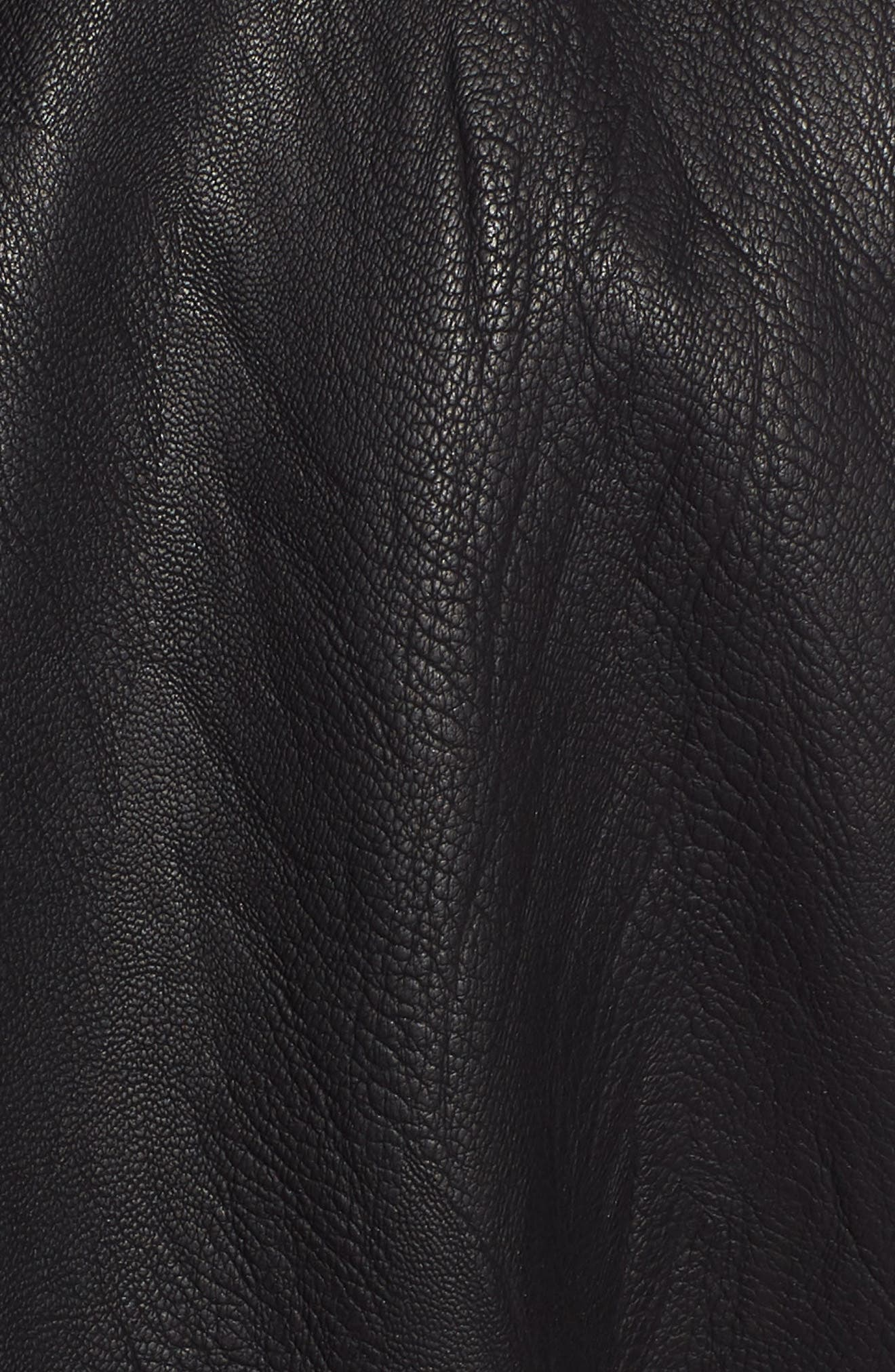 BLANKNYC, Meant to Be Moto Jacket with Removable Hood, Alternate thumbnail 7, color, BLACK