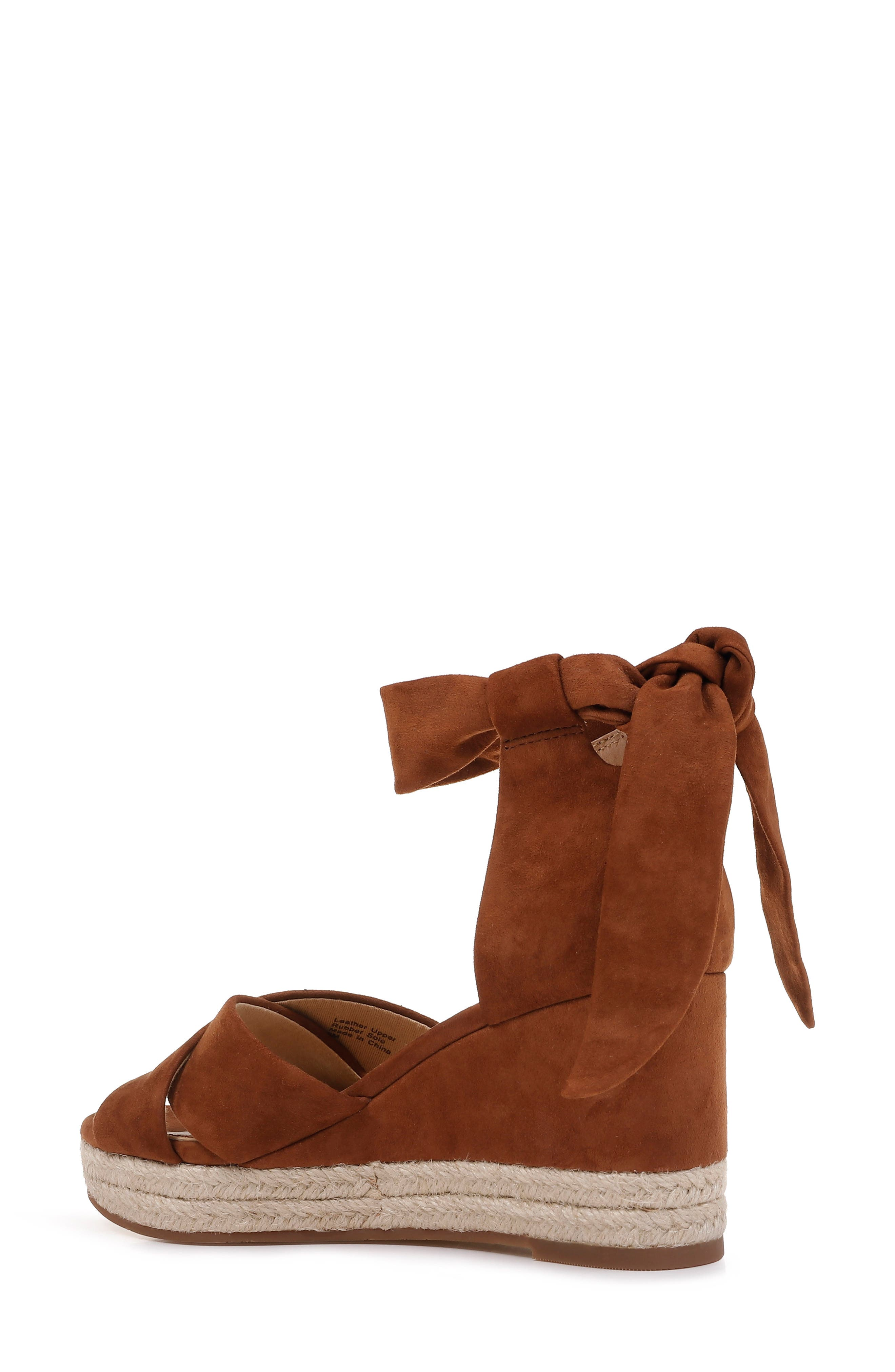 SPLENDID, Terrence Ankle Wrap Wedge Sandal, Alternate thumbnail 2, color, CHESTNUT SUEDE