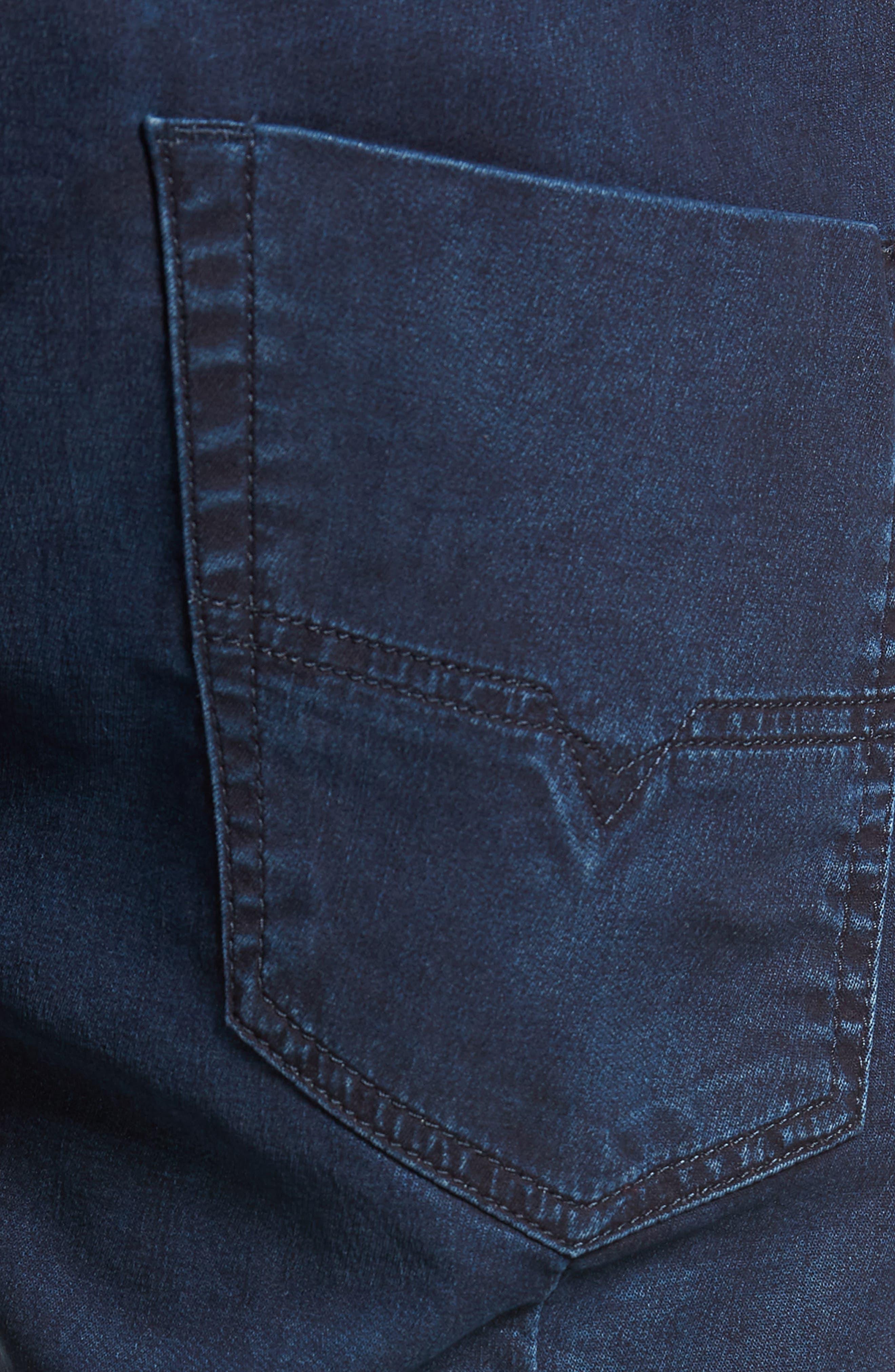 DIESEL<SUP>®</SUP>, Krooshort Denim Shorts, Alternate thumbnail 5, color, 400