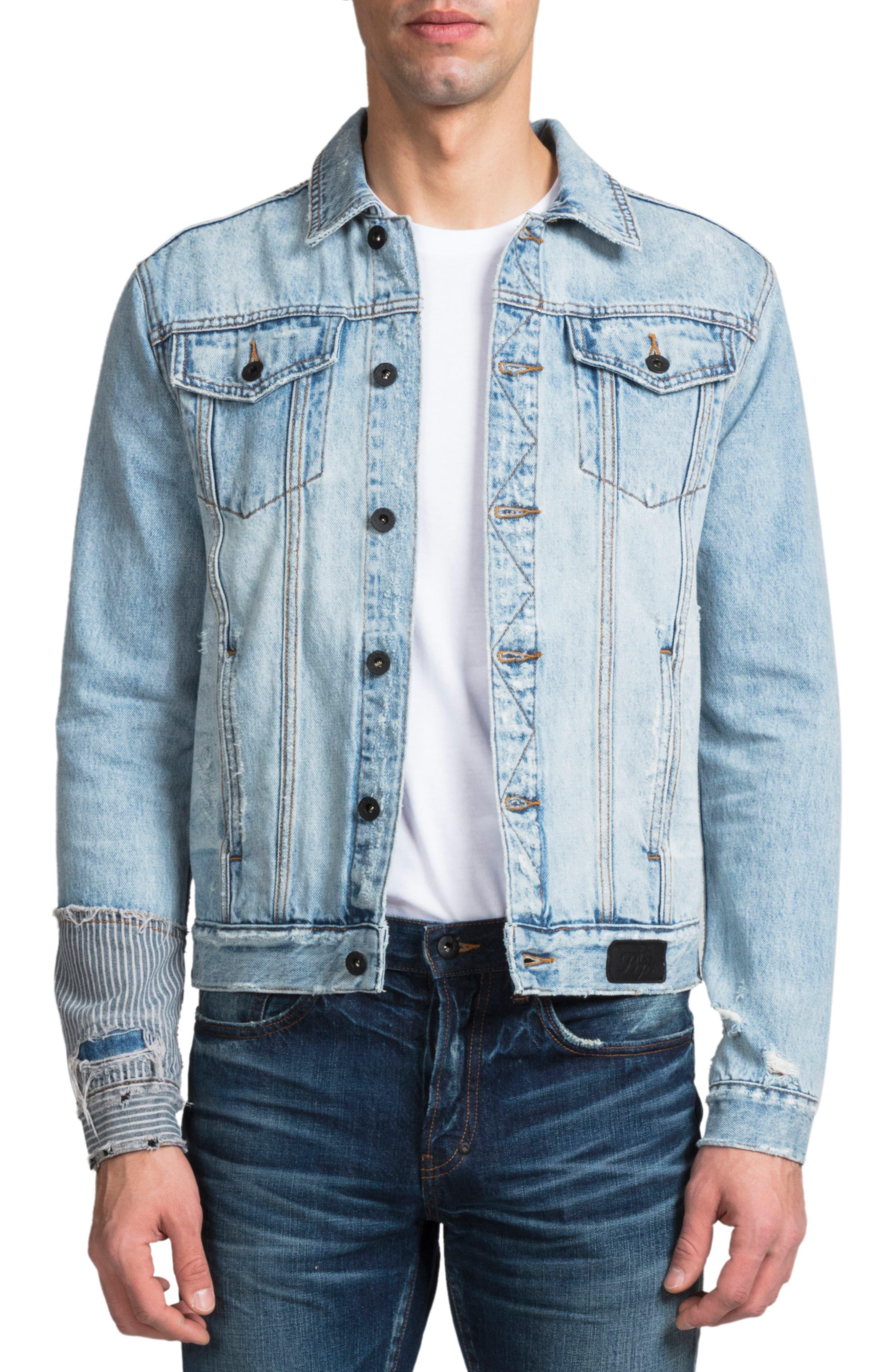 PRPS Rip & Repair Denim Jacket, Main, color, COOLED