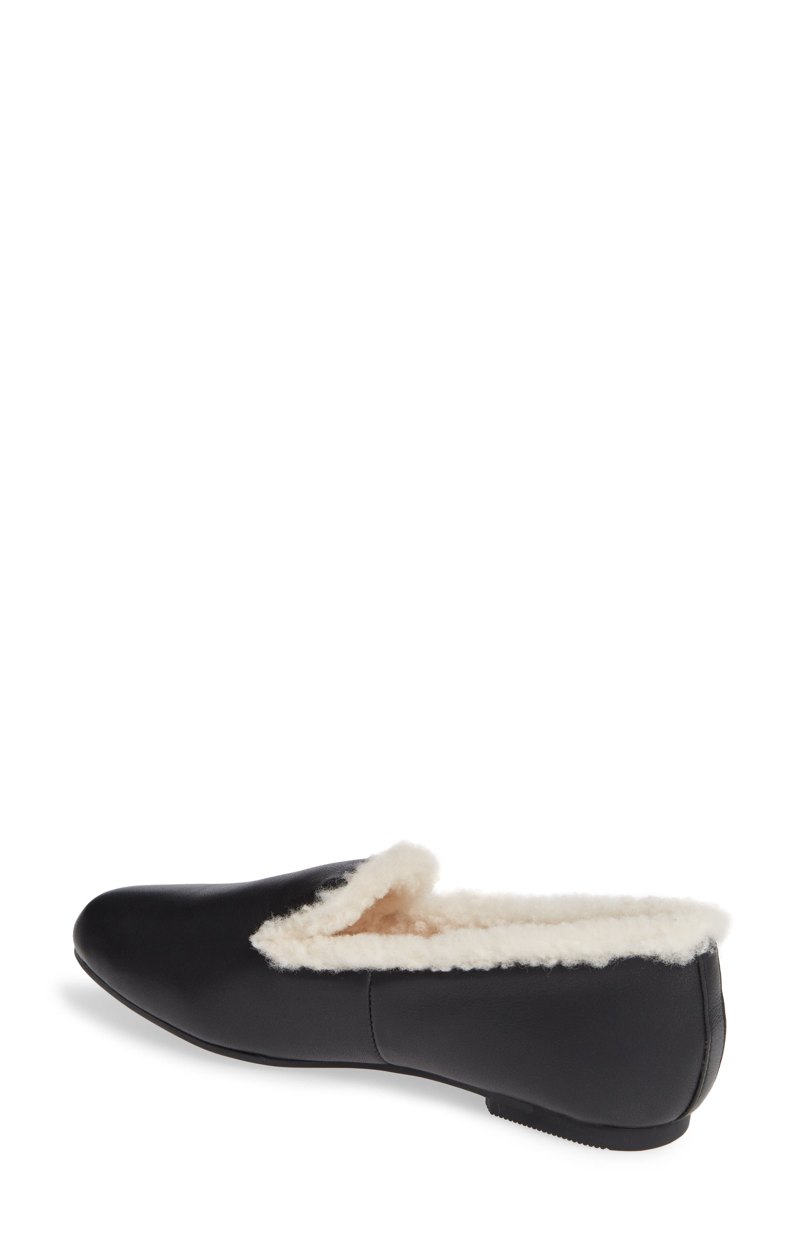 GENTLE SOULS BY KENNETH COLE, Eugene Genuine Shearling Lined Loafer, Alternate thumbnail 2, color, 011
