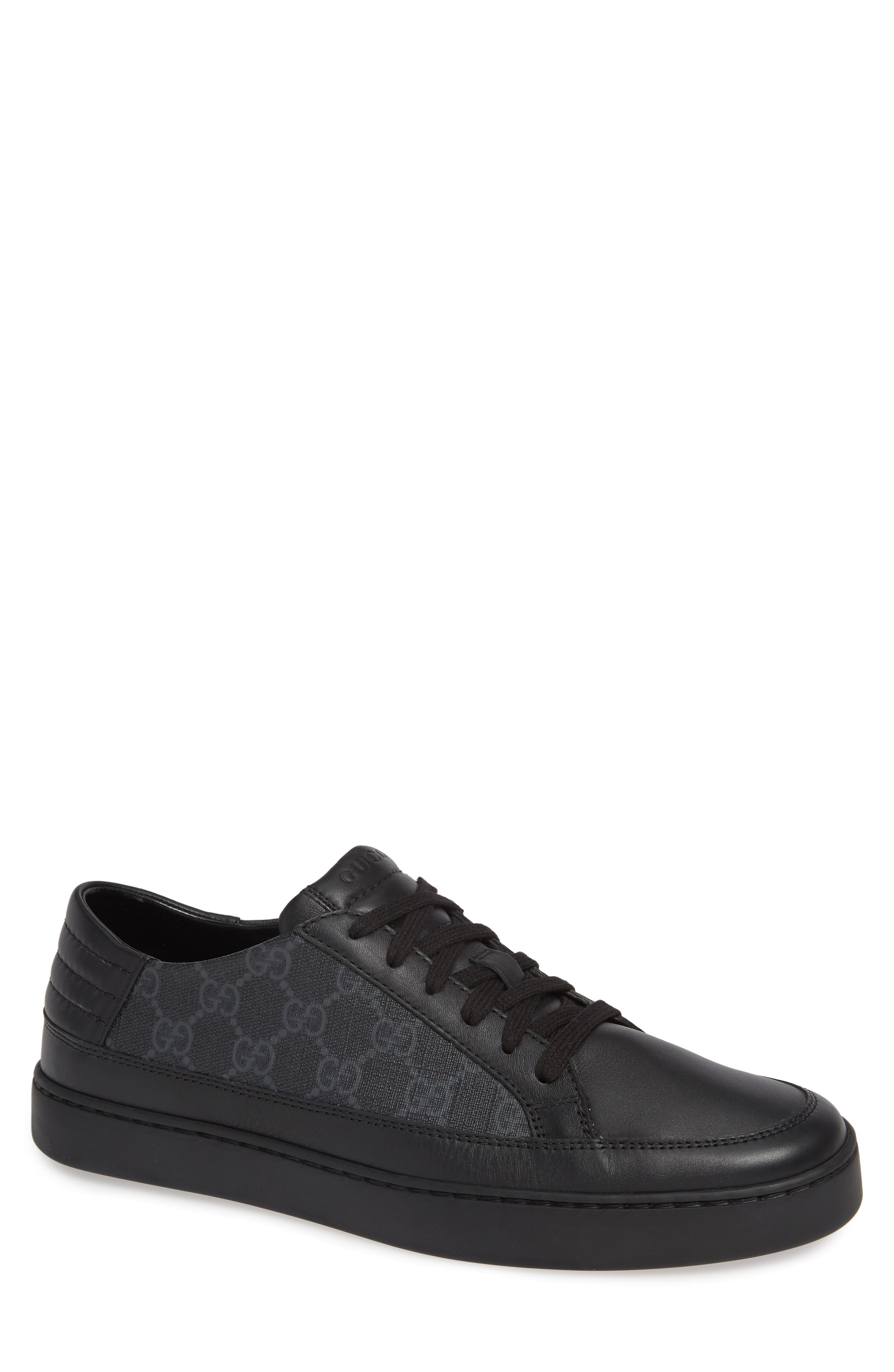 GUCCI, 'Common' Low-Top Sneaker, Main thumbnail 1, color, NERO/ BLACK