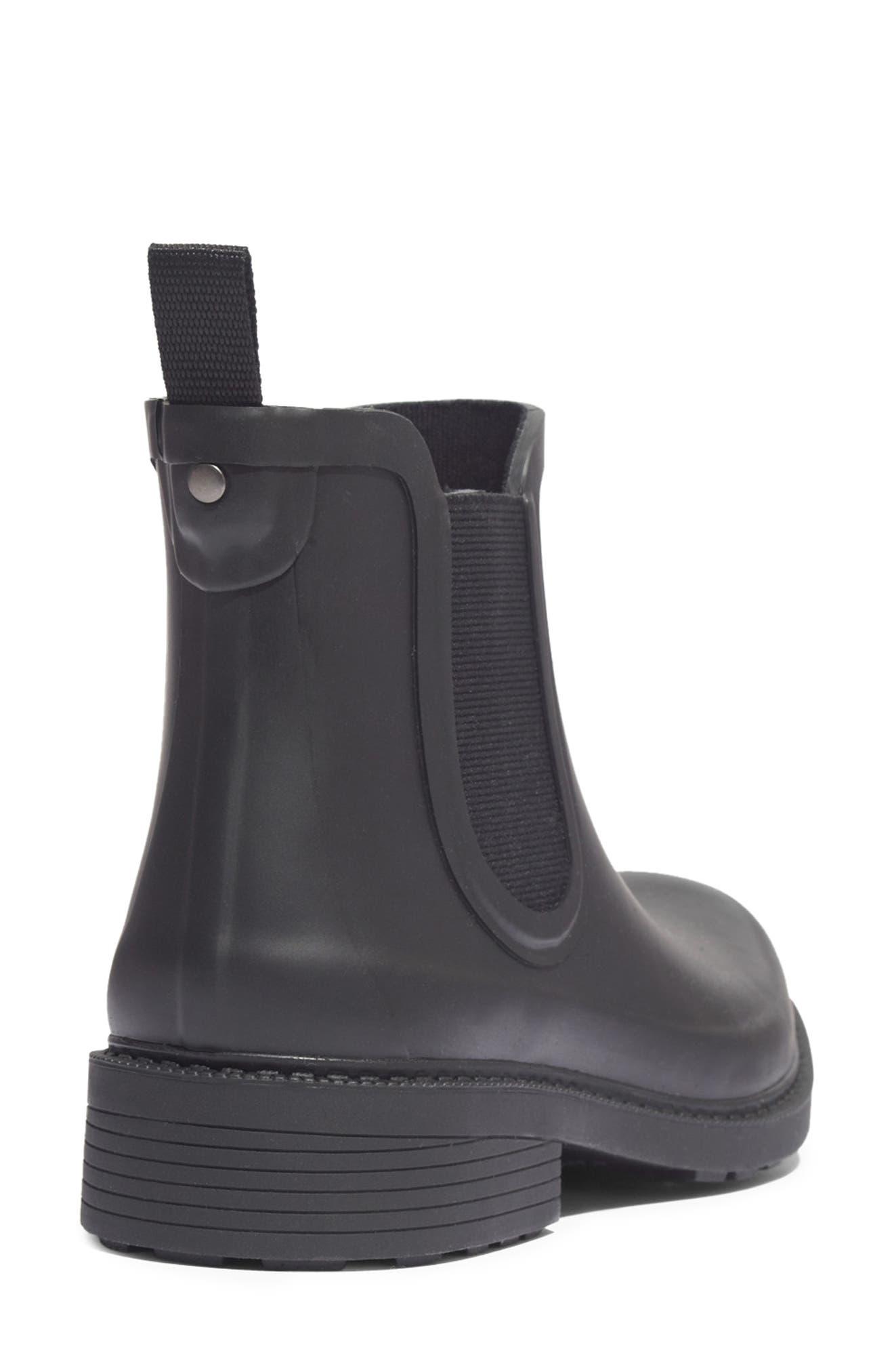 MADEWELL, The Chelsea Rain Boot, Alternate thumbnail 7, color, TRUE BLACK RUBBER
